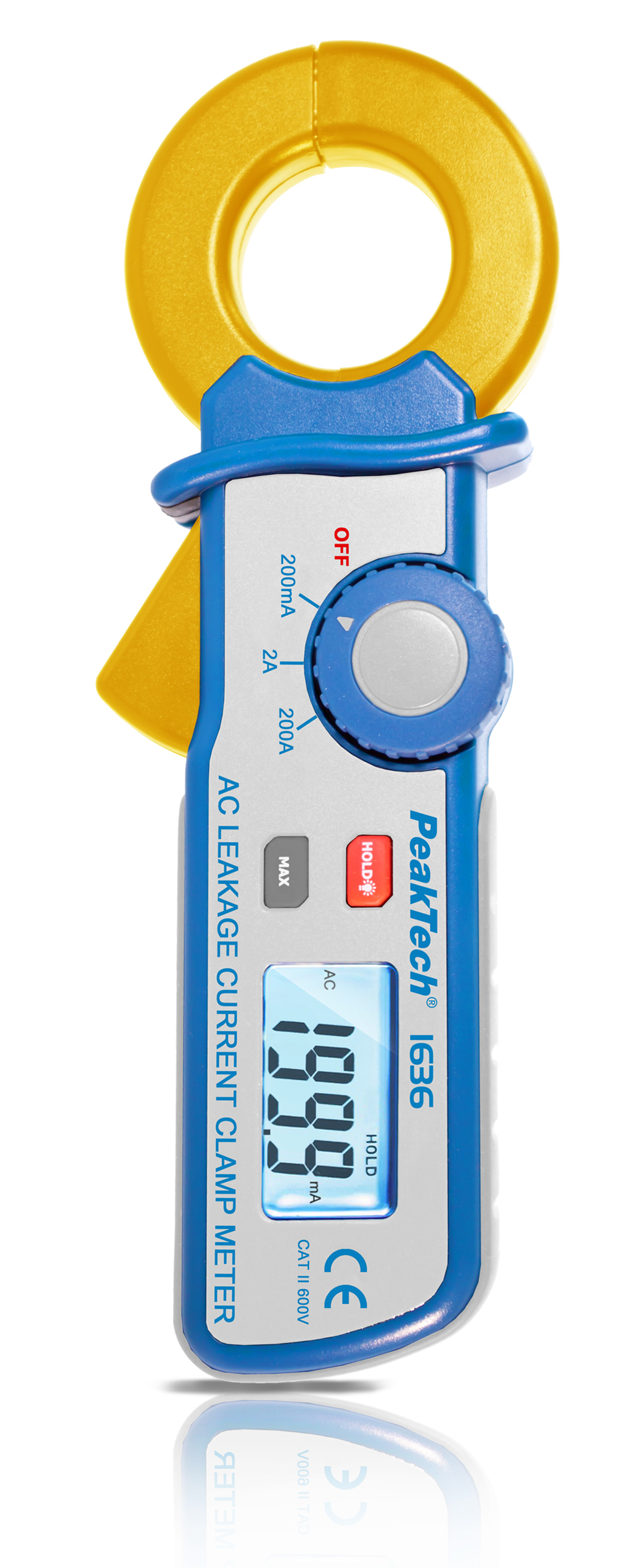 «PeakTech® P 1636» Leakage current clamp with a resolution of 100 µA