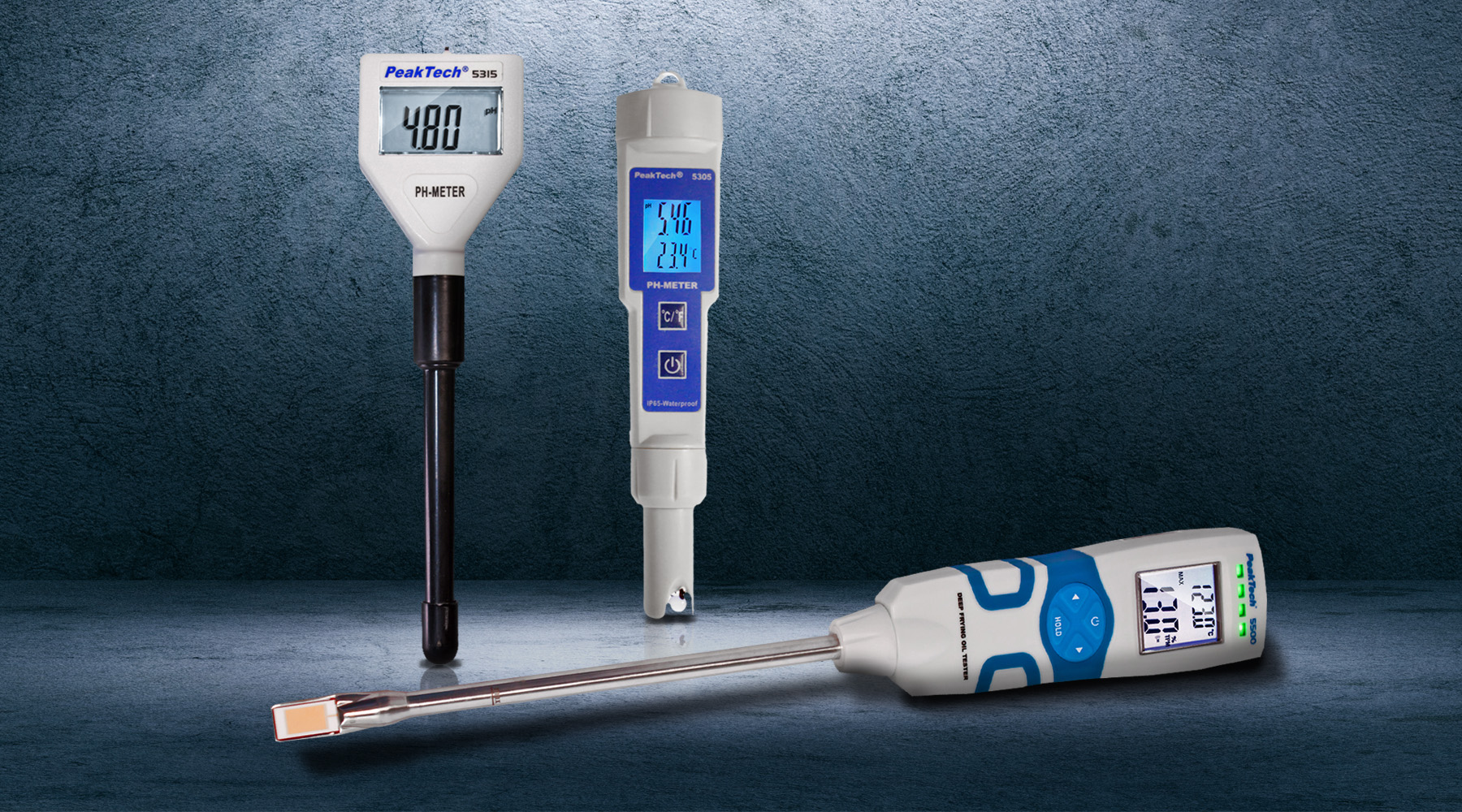PH meters, water and oil testers