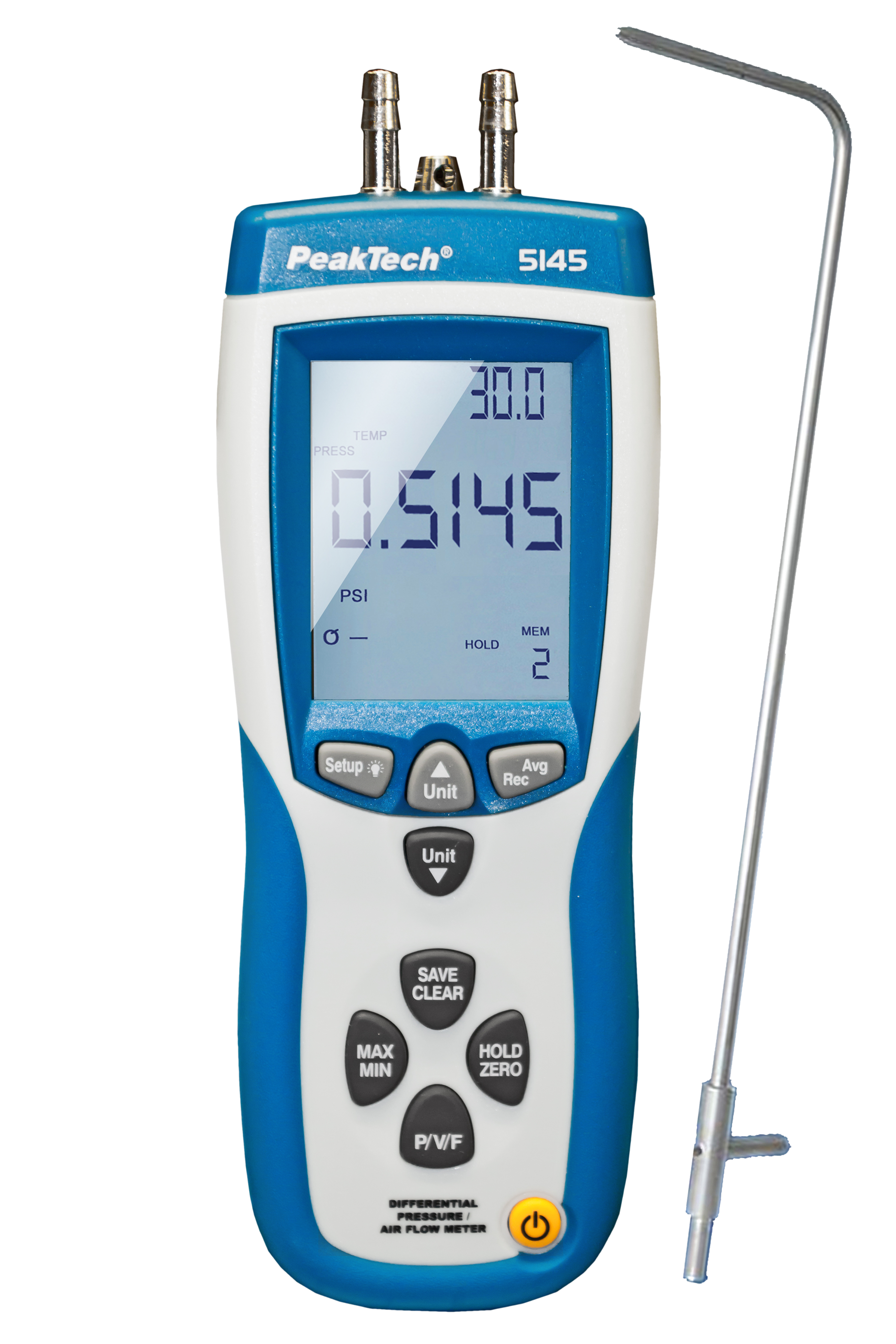 «PeakTech® P 5145» Professional Pressure-Difference & Air Flow Meter