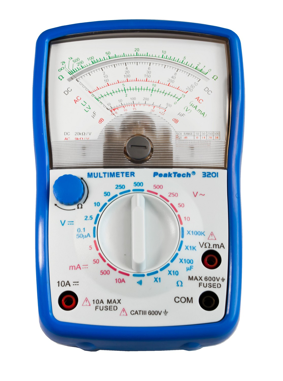 «PeakTech® P 3201» Analog multimeter, 500 V AC / DC, 10 A DC