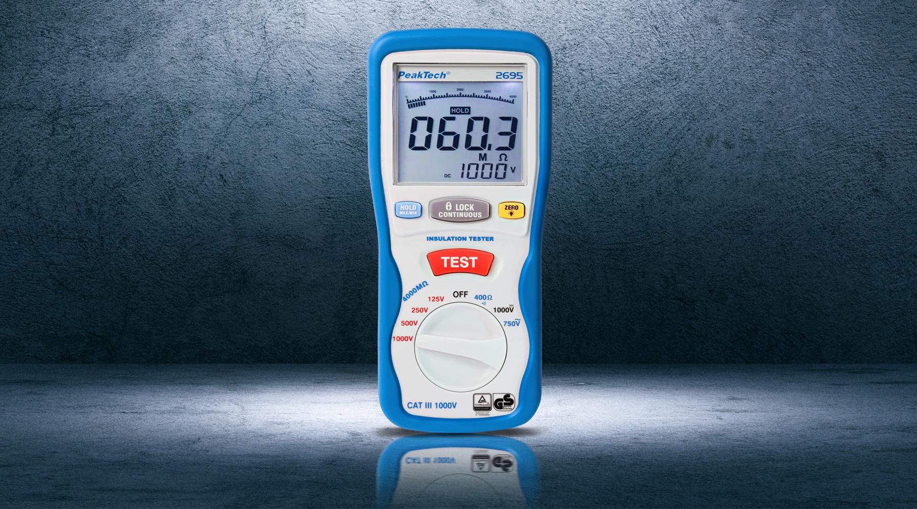 Insulation measuring device according to DIN EN 61557-2 (VDE 0413-2)