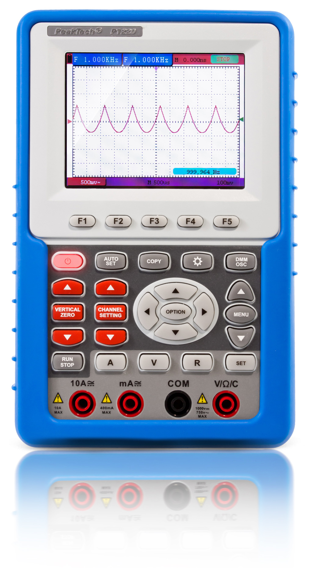 «PeakTech® P 1220» 20 MHz / 1 CH, 100 MS / s handheld oscilloscope