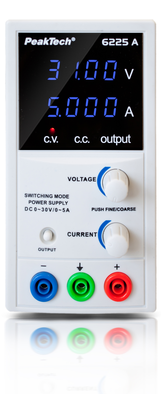 «PeakTech® P 6225 A» Digital Power Supply DC 0 - 30 V/0 - 5 A