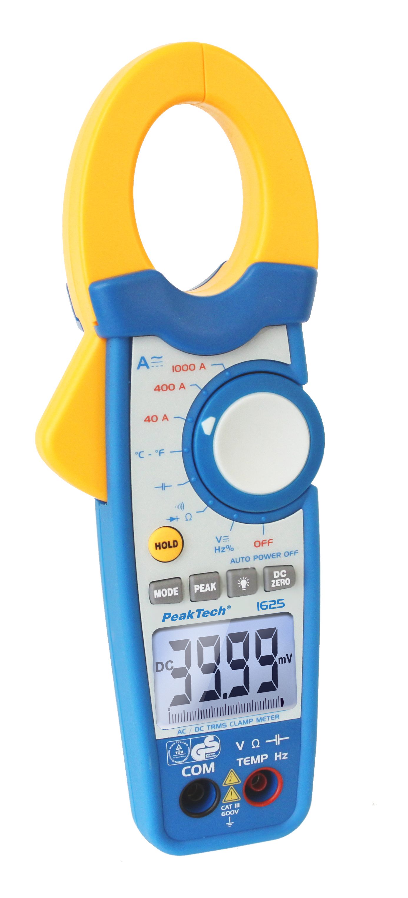 «PeakTech® P 1625» TrueRMS clamp meter 4,000 counts 1000 A AC/DC