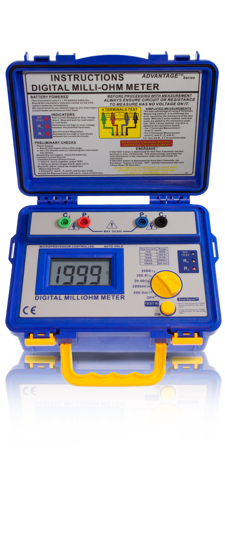 «PeakTech® P 1125» Milliohm-Meter ~ 2.000 Counts ~ 20/200/2.000 Ohm
