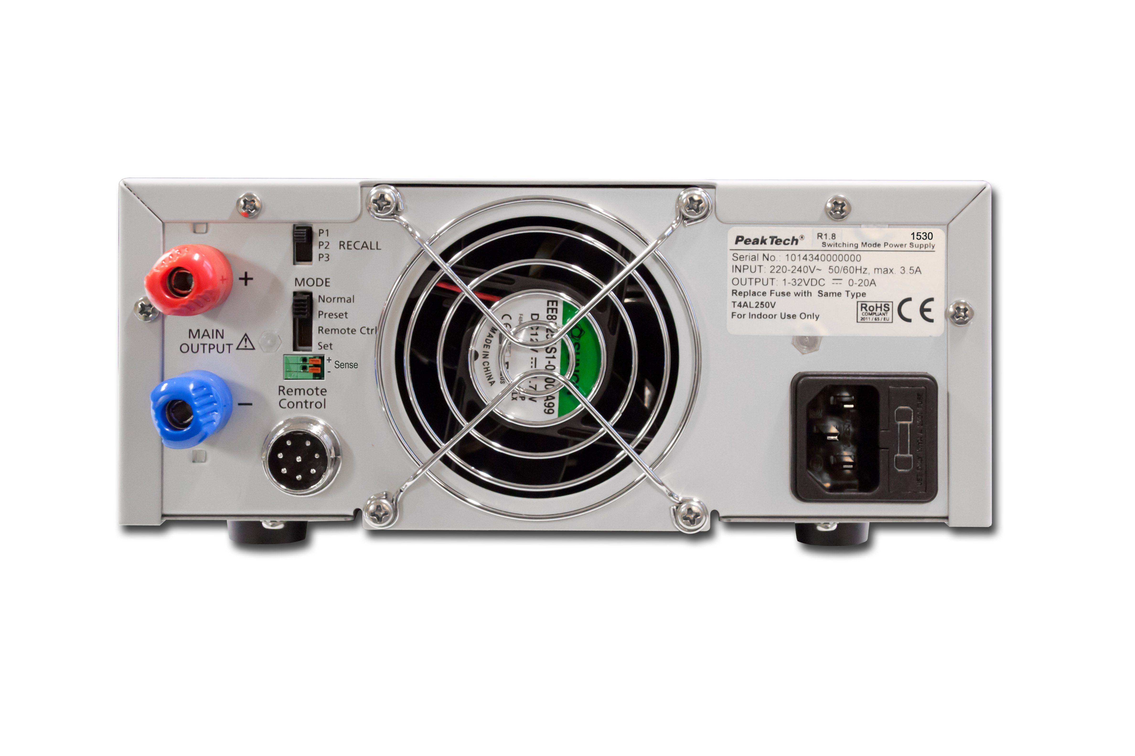 «PeakTech® P 1530» Laboratory power supply DC 1 - 16 V / 0 - 60 A