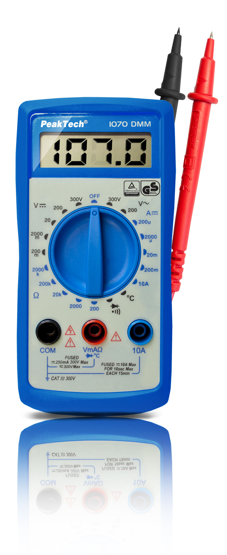 «PeakTech® P 1070» 300V AC / DC digital multimeter ~ 2000 digit LCD