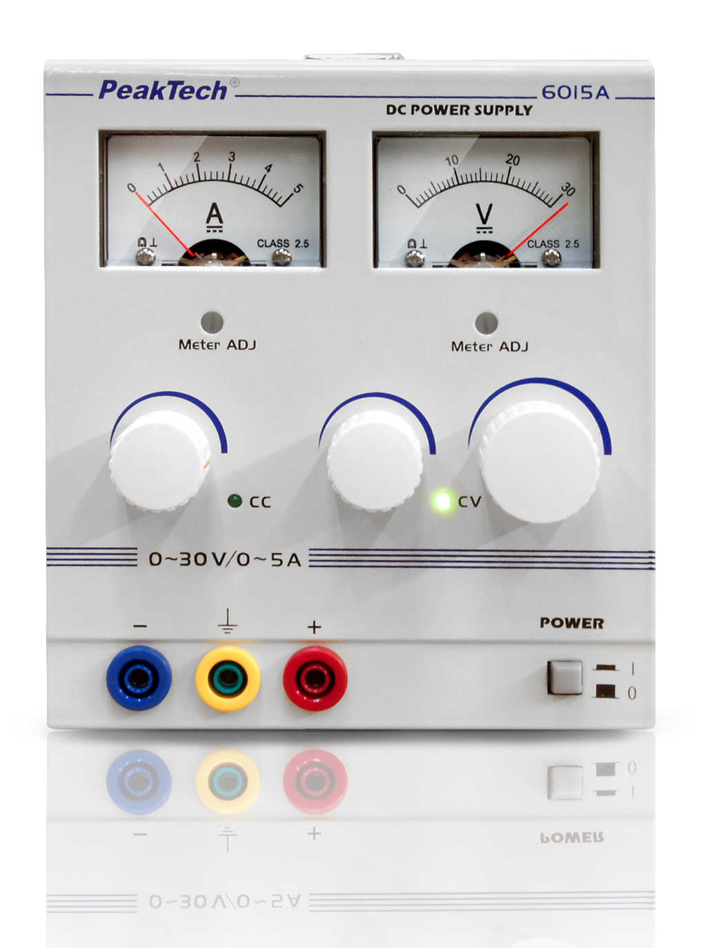 «PeakTech® P 6015 A» Analogue Power Supply, 0 - 30 V/0 - 5 A DC