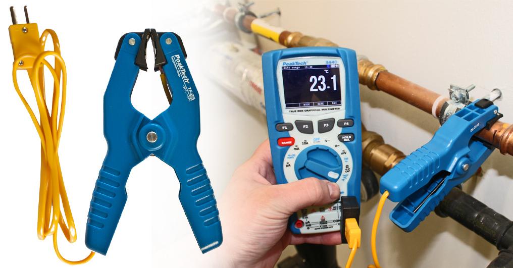«PeakTech® P TF-25» Clamp Temperature Probe, -20 °C … + 200°C
