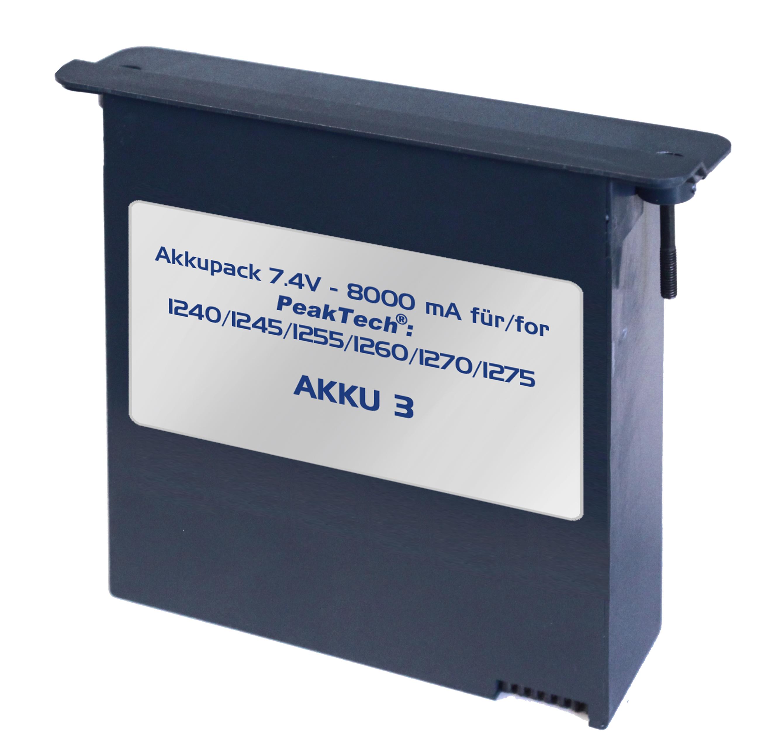 «PeakTech® AKKU 3» Li-Po Akku 7,4 V - 8000 mA/h für PeakTech 1240/1245/1255/1260/1270/1275