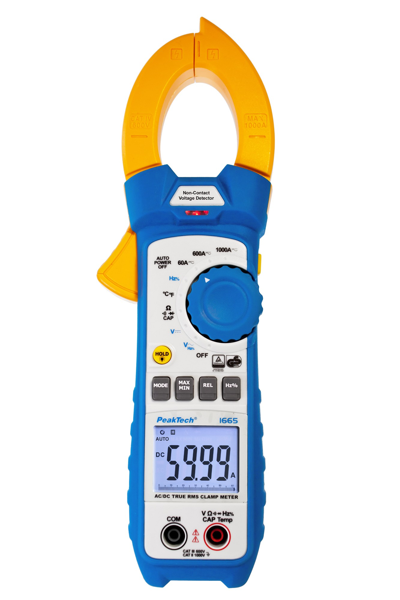 «PeakTech® P 1665» TrueRMS current clamp 6,000 counts 1000 A AC/DC