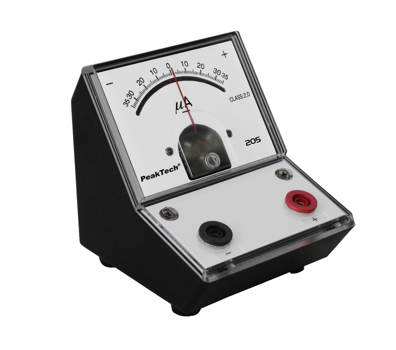«PeakTech® P 205-08» Analog galvanometer +/- 35µA DC