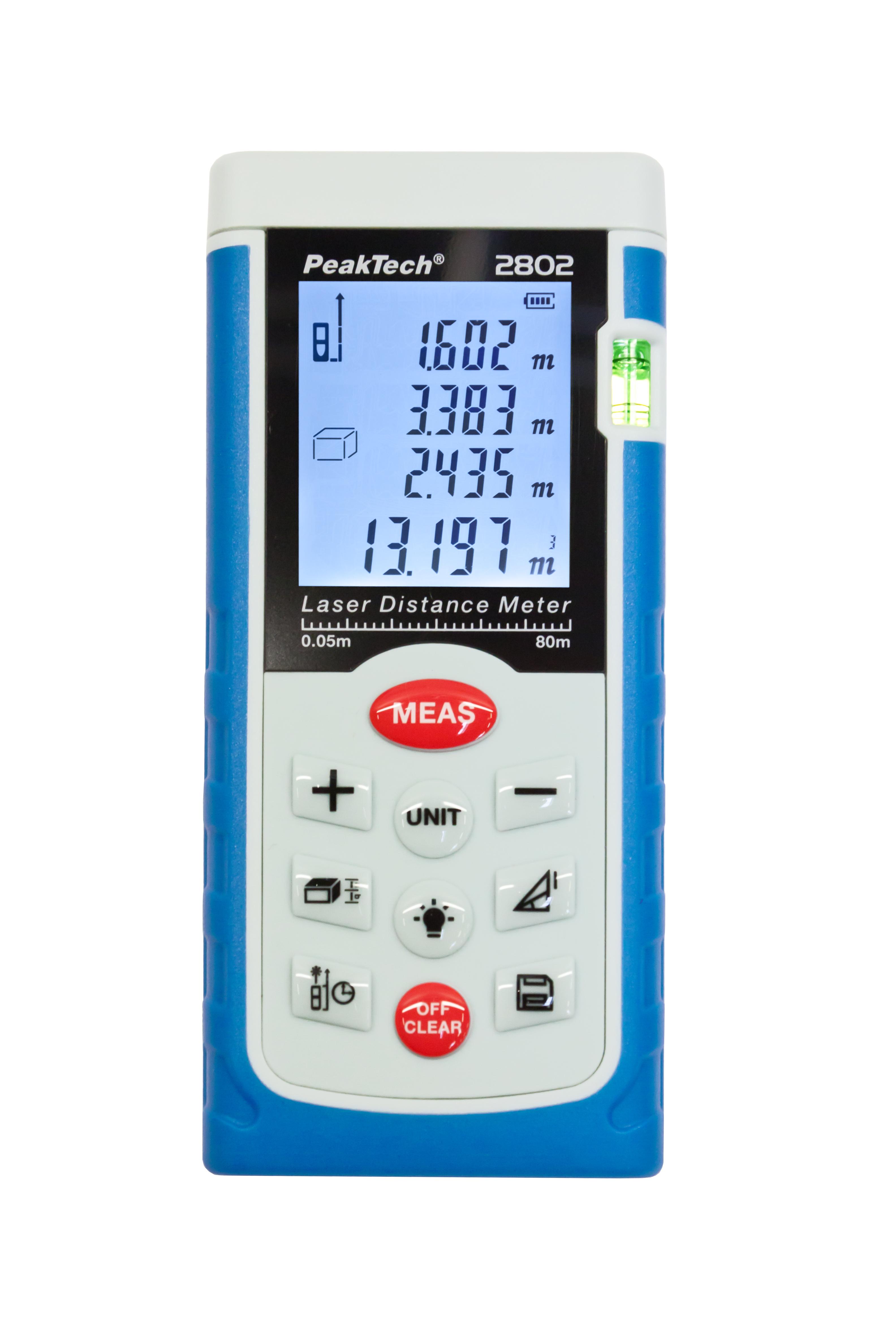 «PeakTech® P 2802» Laser distance meter up to 80 meters