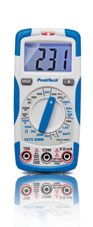 «PeakTech® P 1075» 600V AC / DC digital multimeter ~ 2000 digit LCD