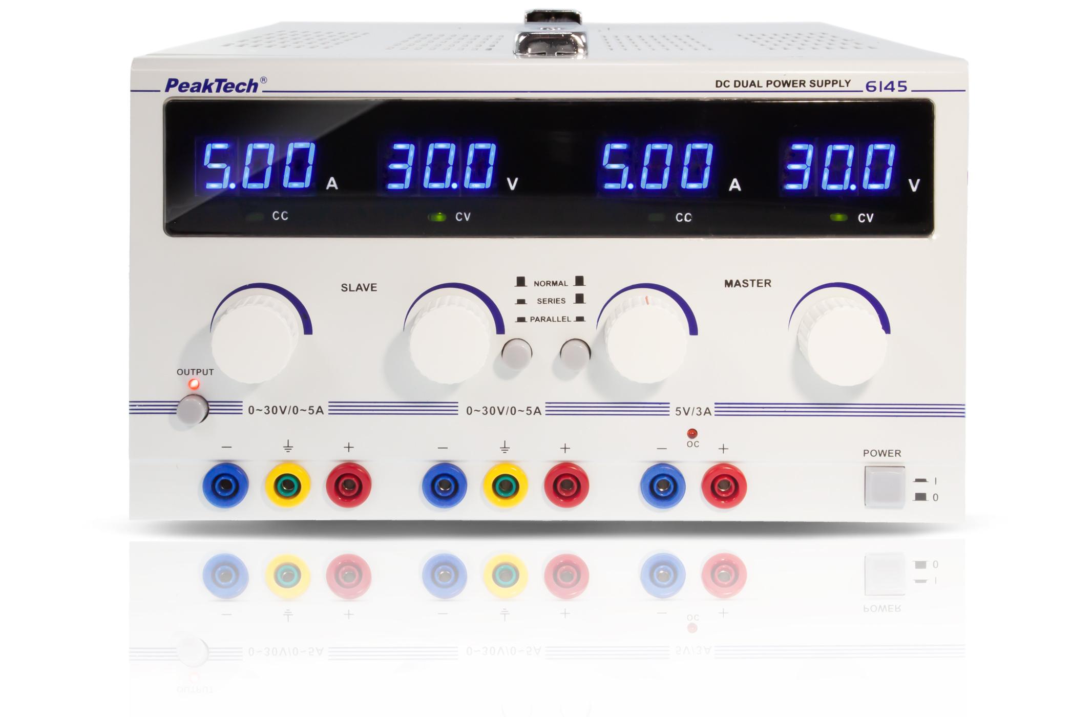«PeakTech® P 6145» Digital Laboratory Power Supply