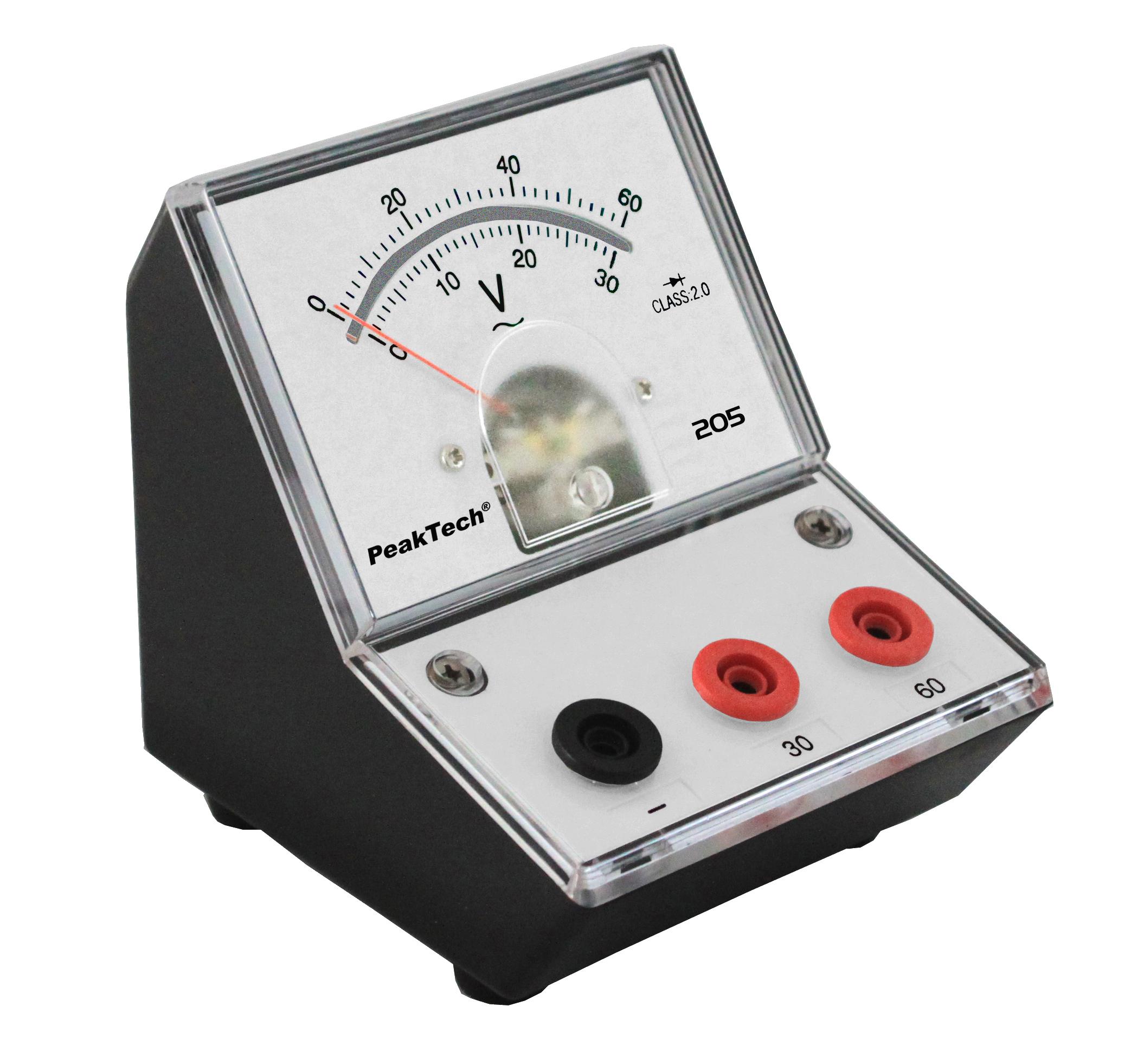 «PeakTech® P 205-12» Analog voltmeter - 0 ... 30V / 60V AC