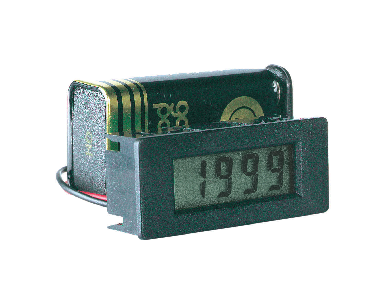 «PeakTech® LDP-335» Volt & ammeter, LCD display 8mm hight of digits