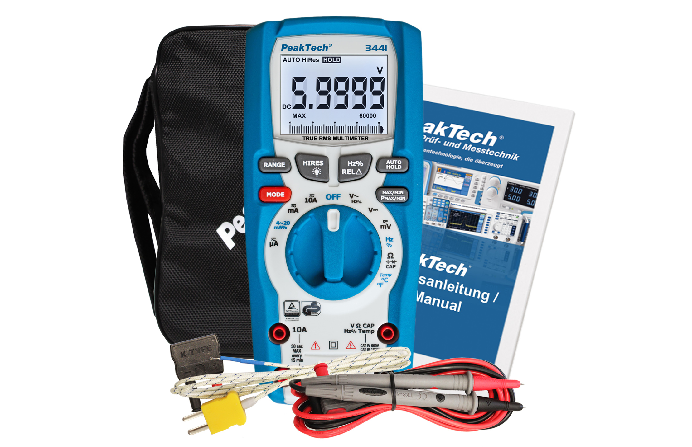 «PeakTech® P 3441» TrueRMS digital multimeter 60,000 counts