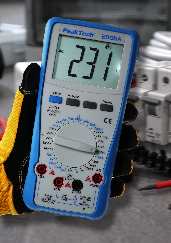 «PeakTech® P 2005 A» 1000 V digital multimeter 2000 Counts