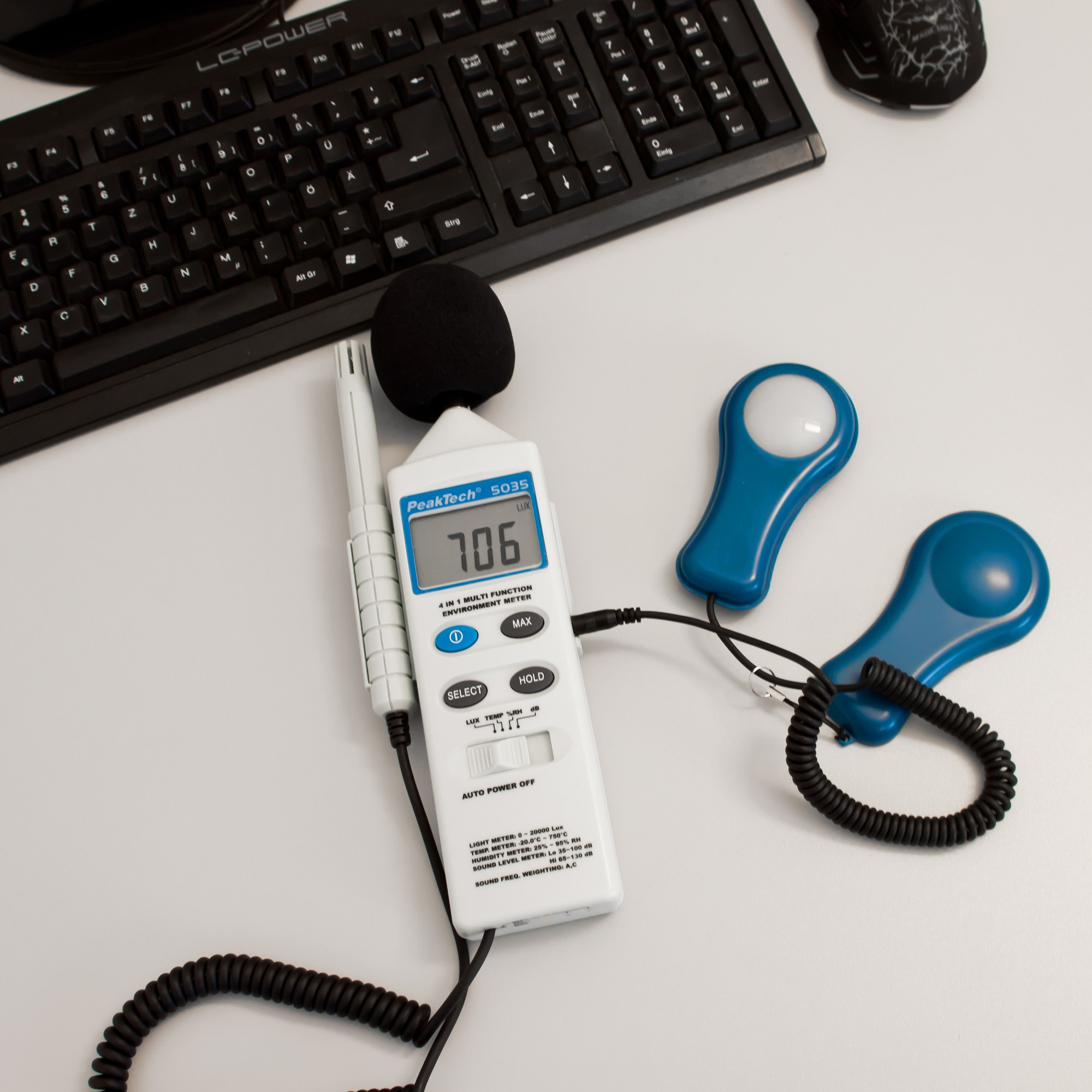 «PeakTech® P 5035» Multifunction environment tester