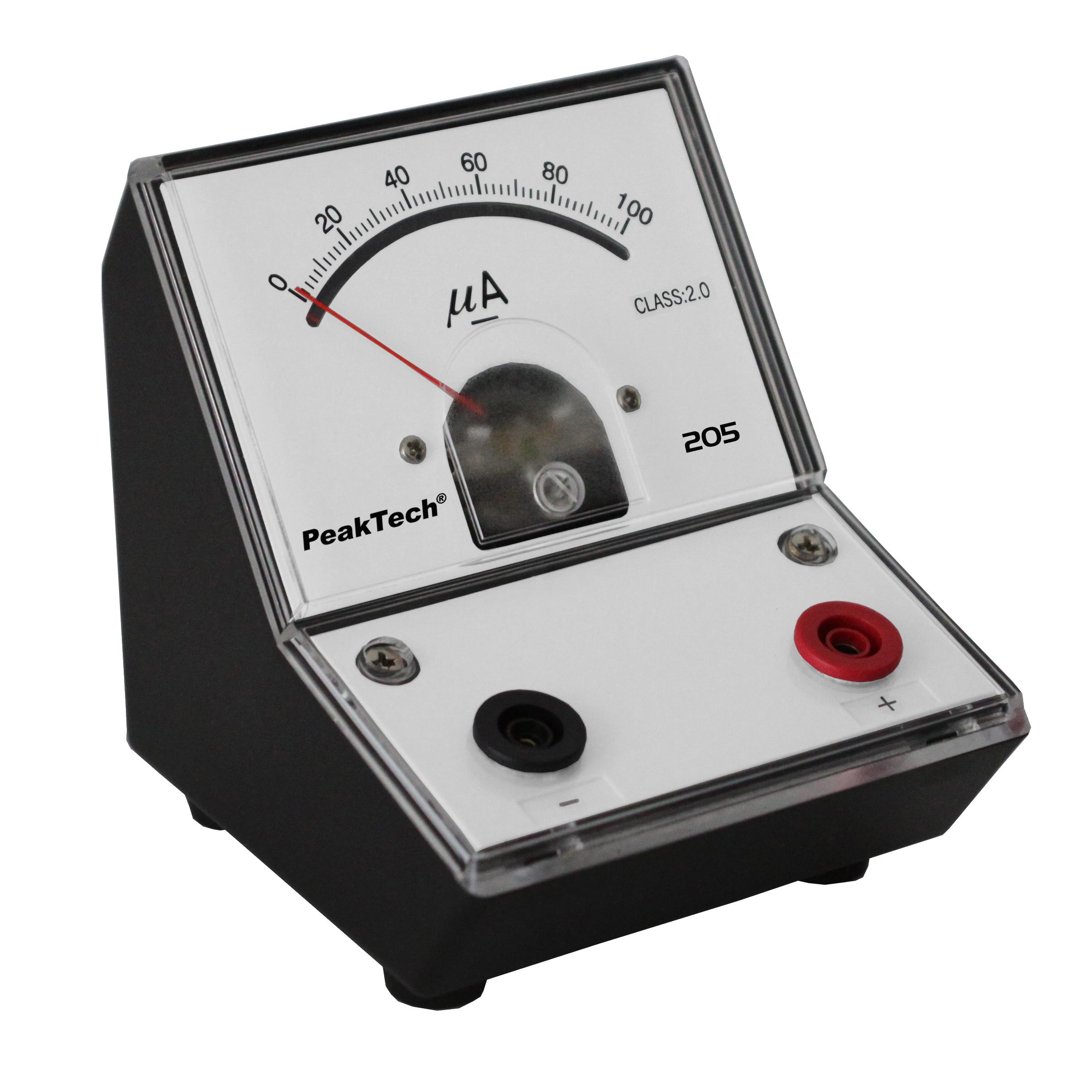 «PeakTech® P 205-02» Analog amperemeter - 0 ... 100µA DC