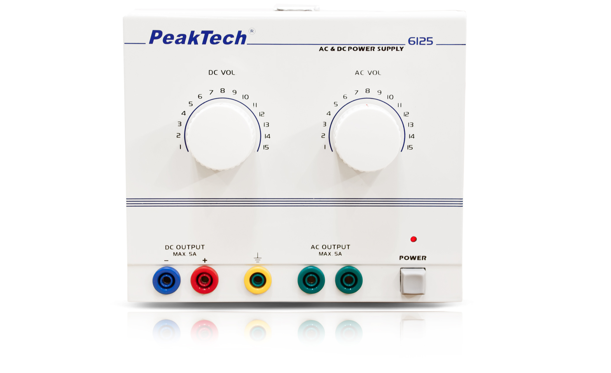 «PeakTech® P 6125» AC/DC Laboratory Power Supply 1 - 15 V/5 A