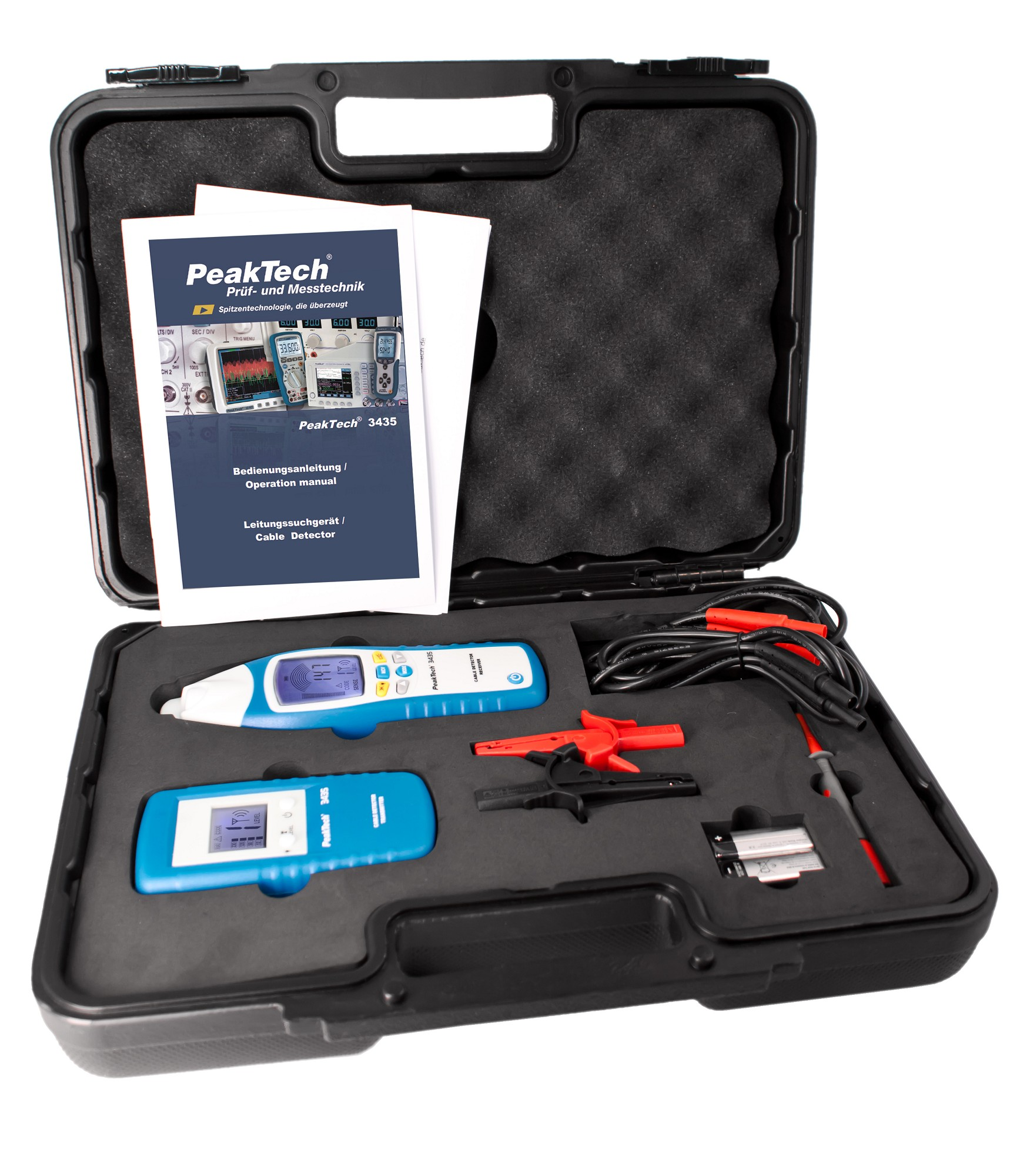 «PeakTech® P 3435» Cable detector - set, transmitter and receiver