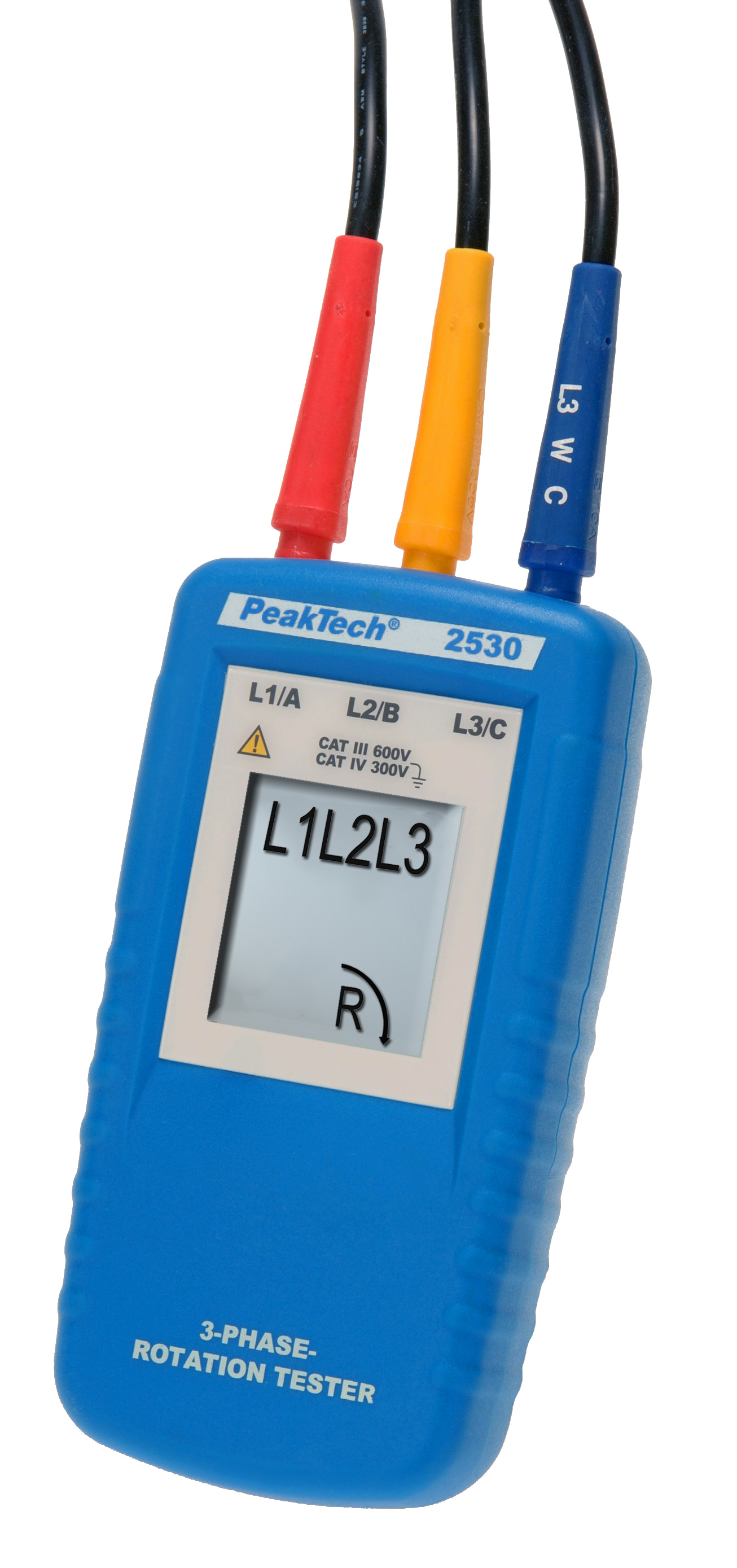 «PeakTech® P 2530» 3-phase direction indicator with LCD display