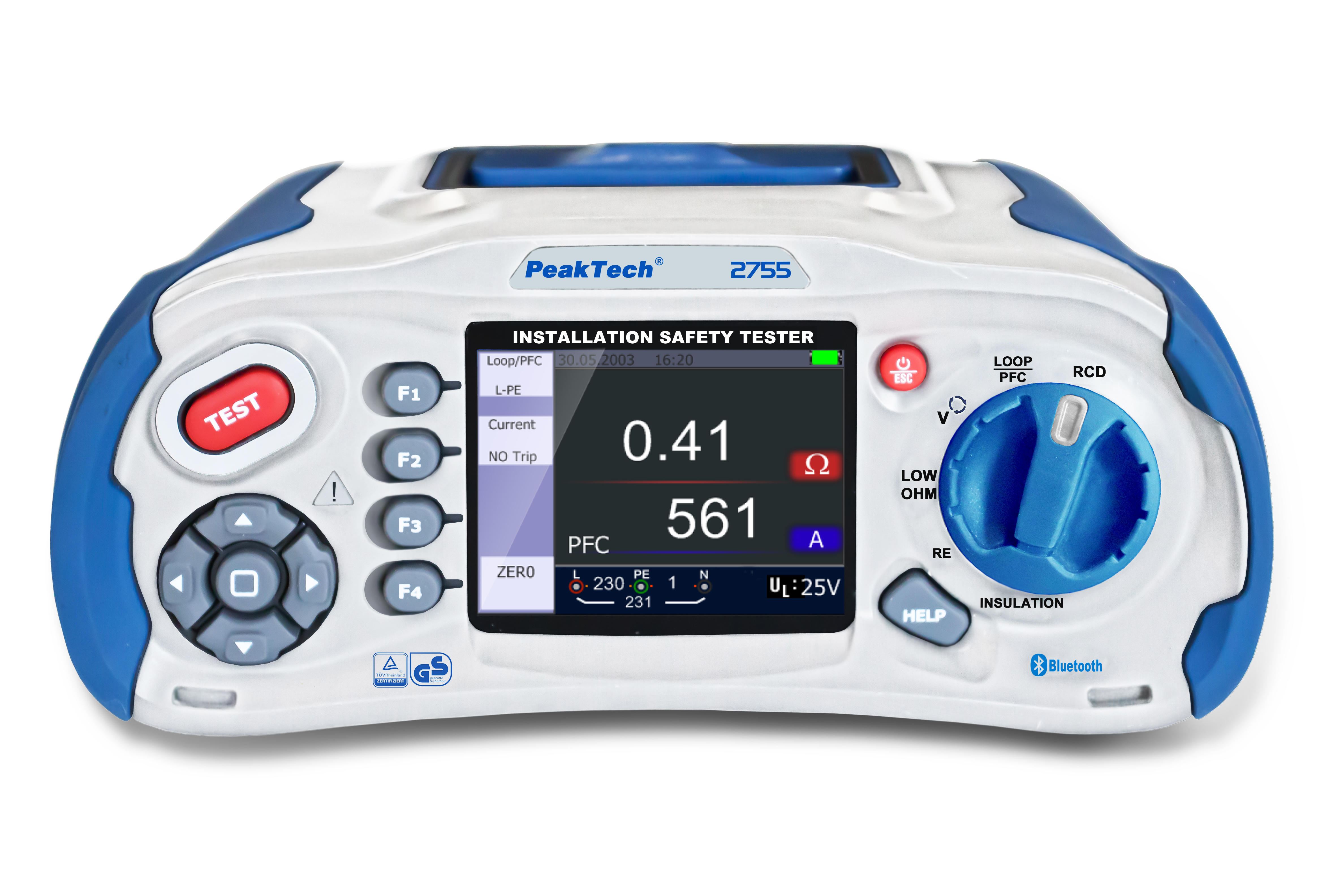 «PeakTech® P 2755» Installation Safety Tester