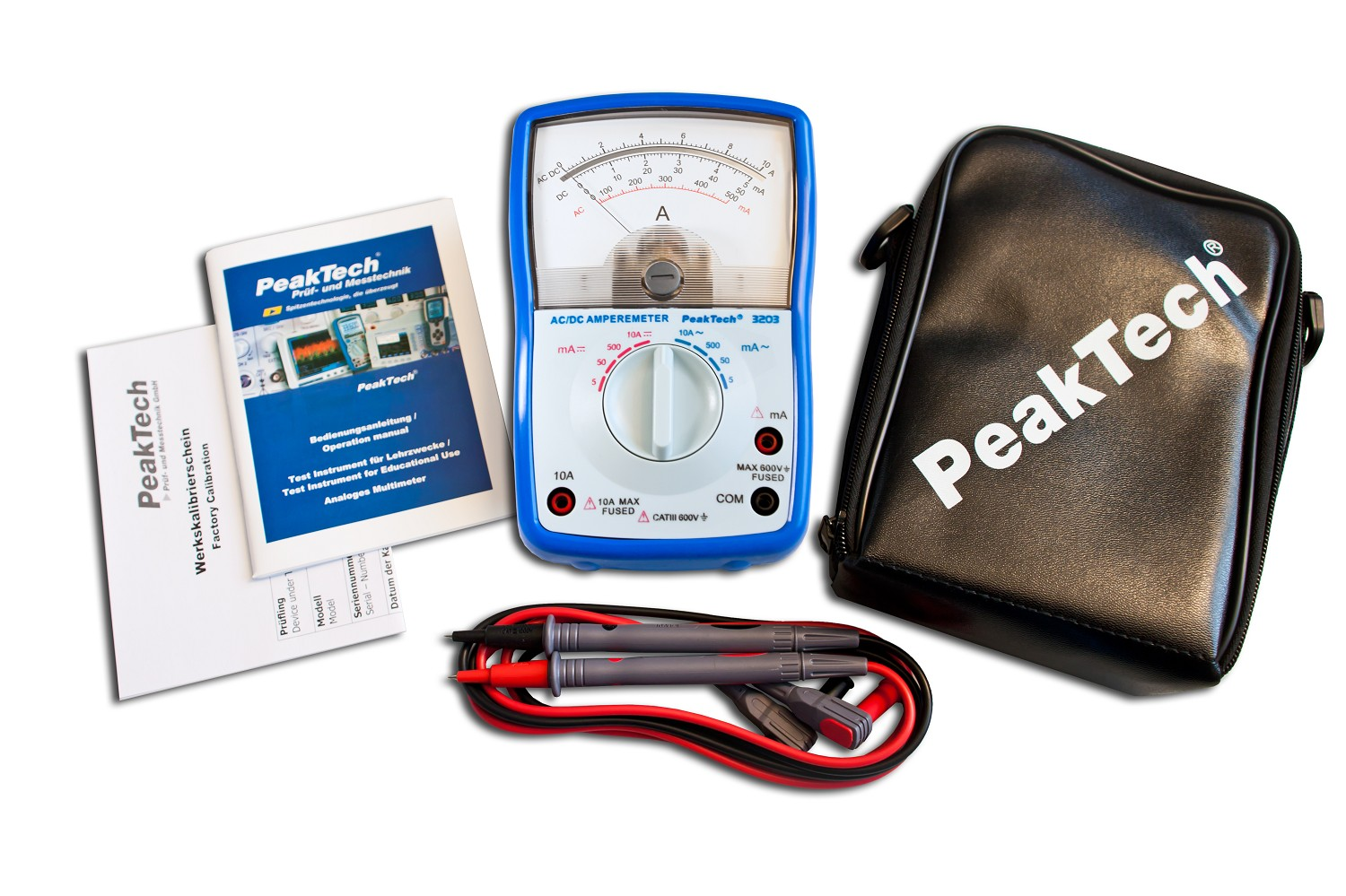 «PeakTech® P 3203» Analog ammeter, 10 A AC / DC