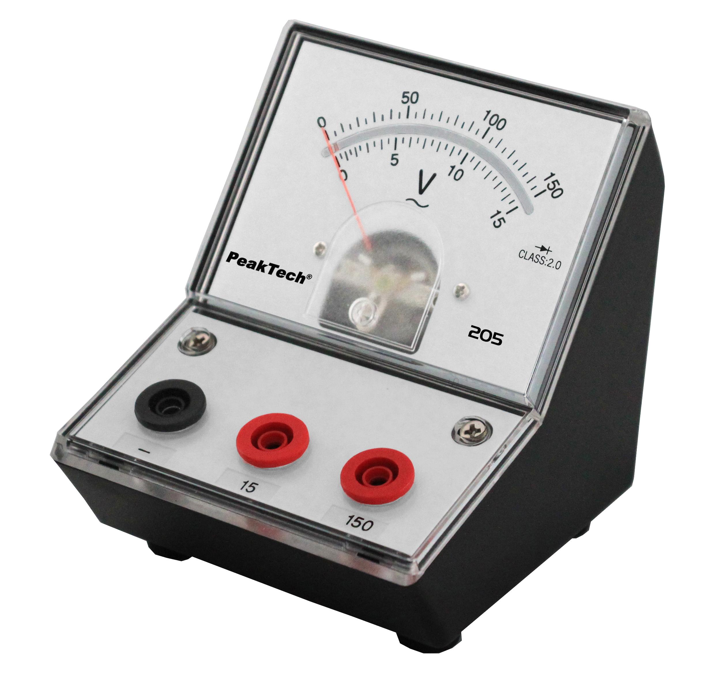 «PeakTech® P 205-11» Analog voltmeter - 0 ... 15V/150V AC