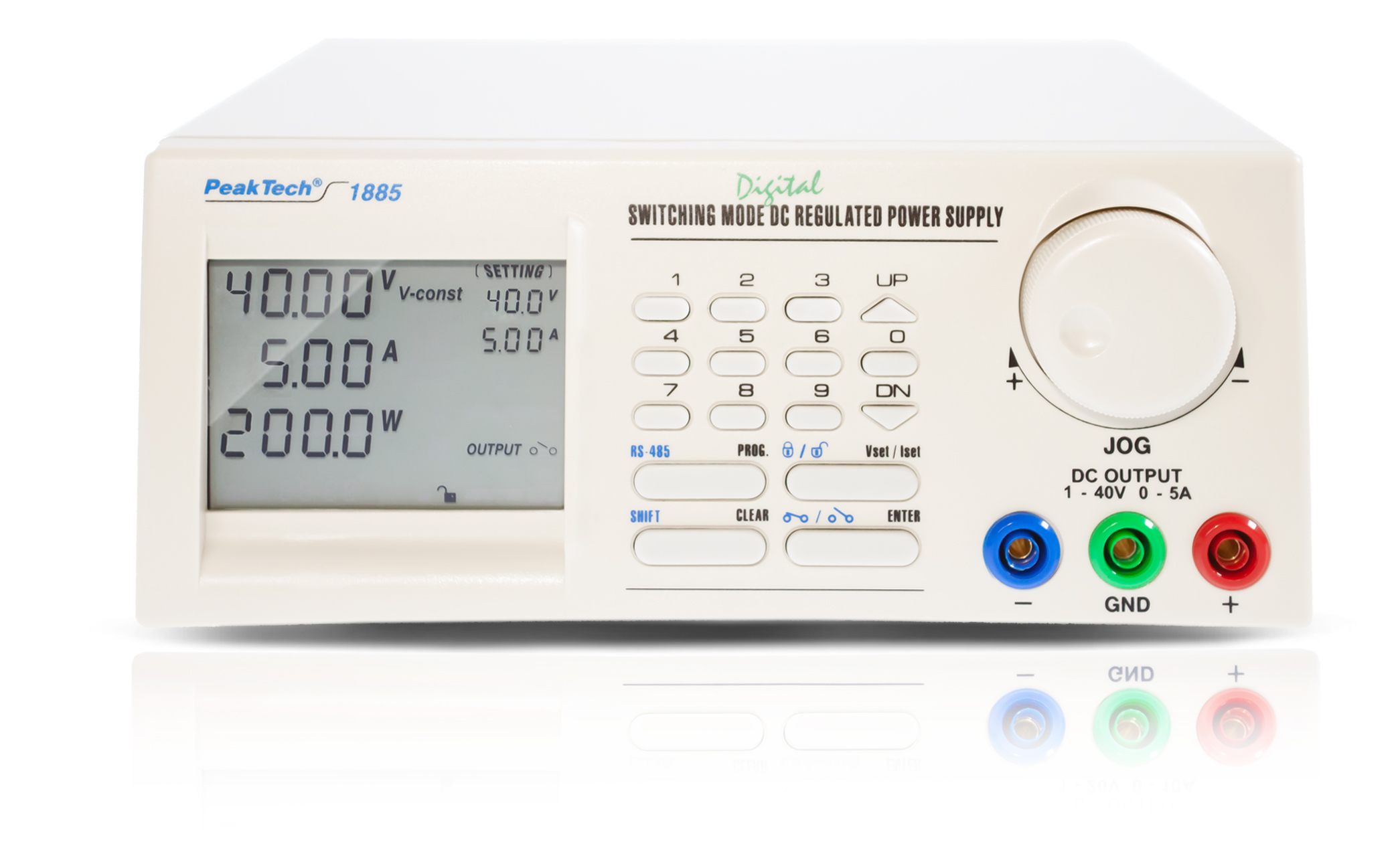 «PeakTech® P 1885» Laboratory power supply DC 1 - 40V/0 - 5A with USB