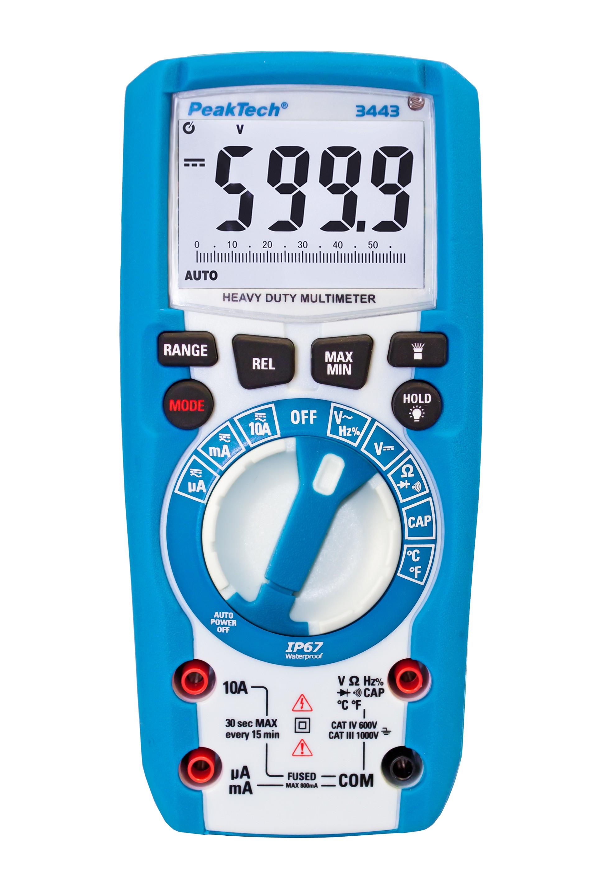 «PeakTech® P 3443» Digital multimeter 6,000 counts, IP67