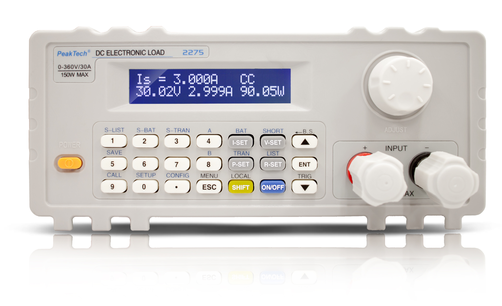 «PeakTech® P 2275» DC electronic load with USB