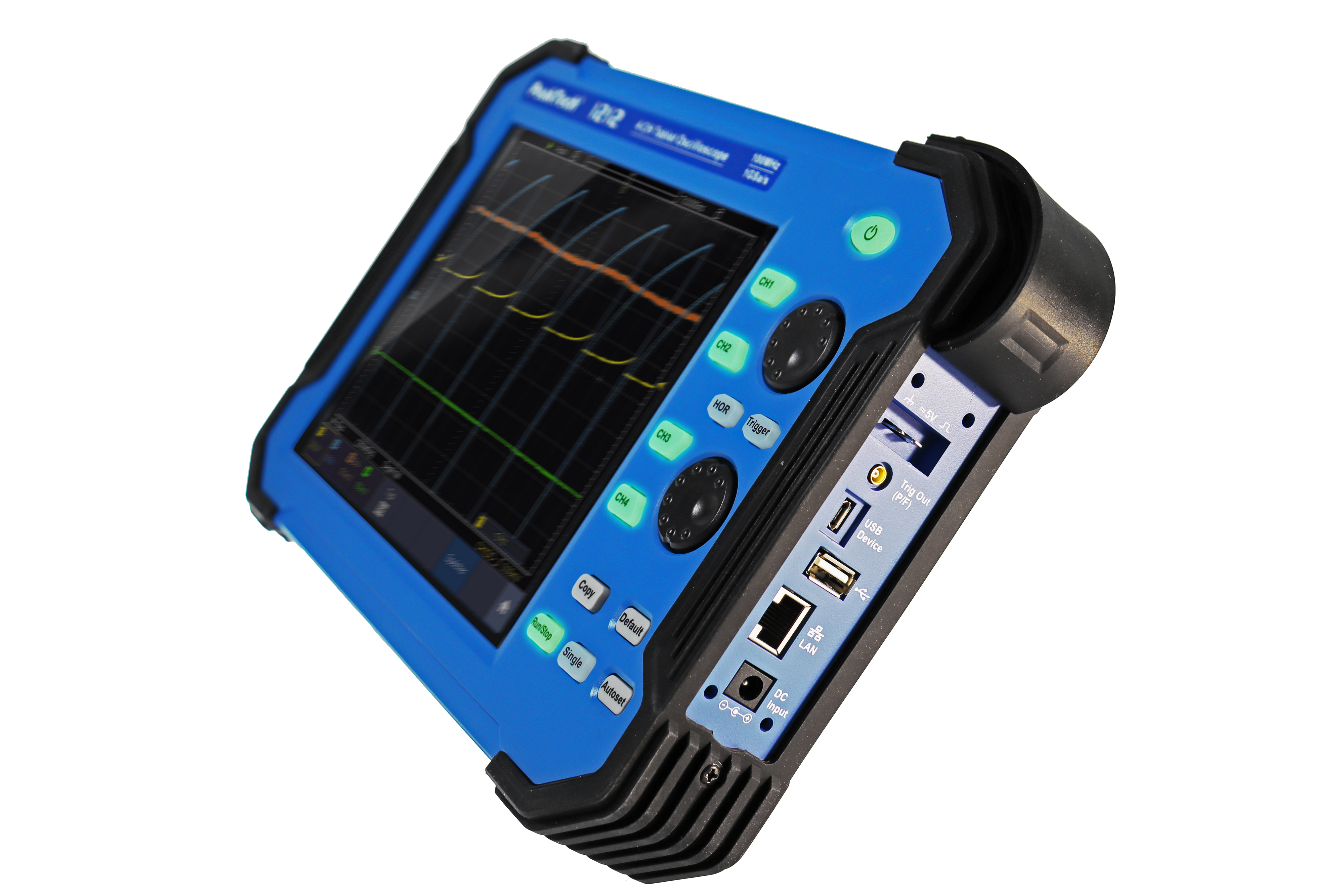 «PeakTech® P 1212» 100 MHz / 4 CH, 1 GS/s tablet Oscilloscope
