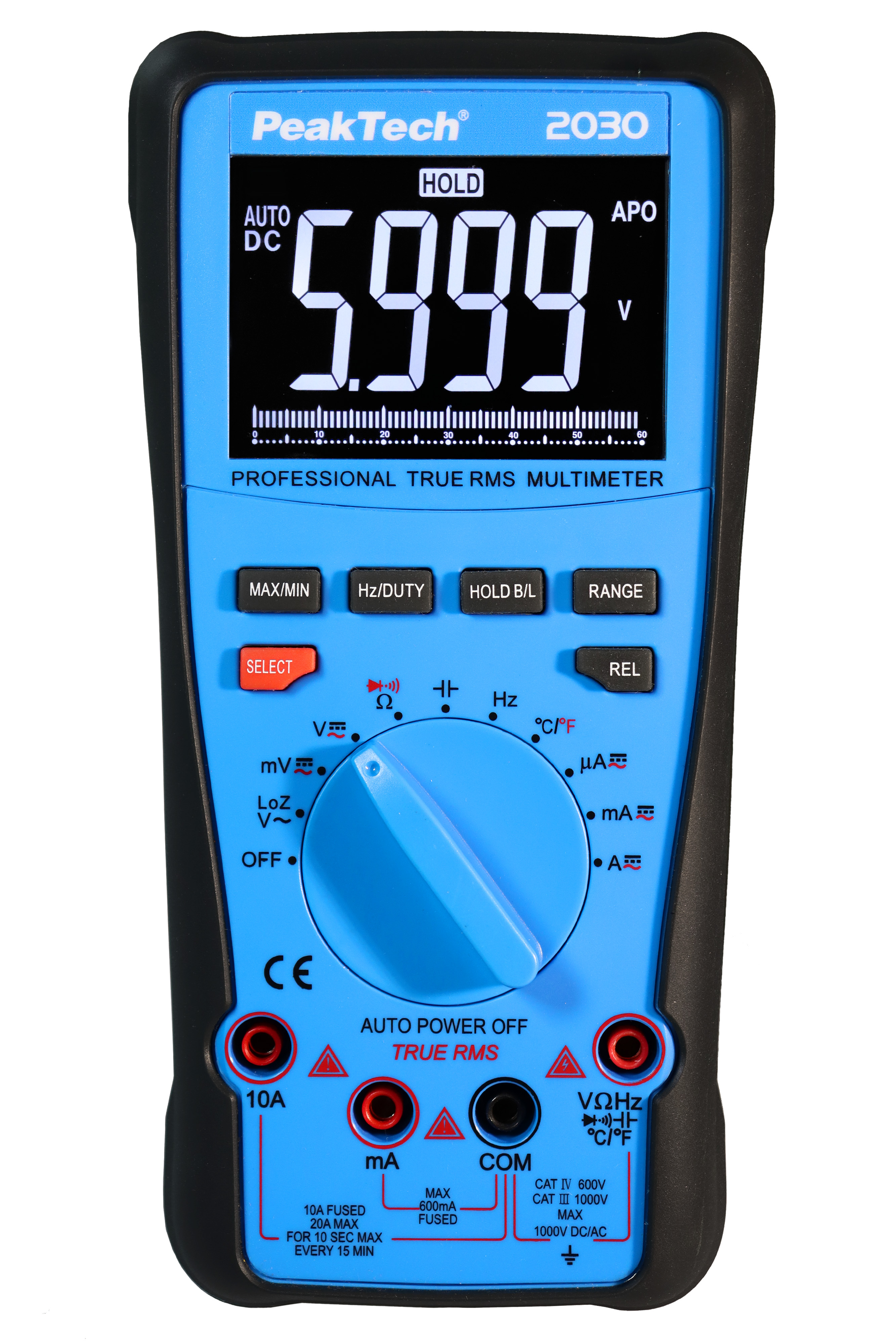 «PeakTech® P 2030» True RMS 1000V Digital Multimeter 6000 Counts
