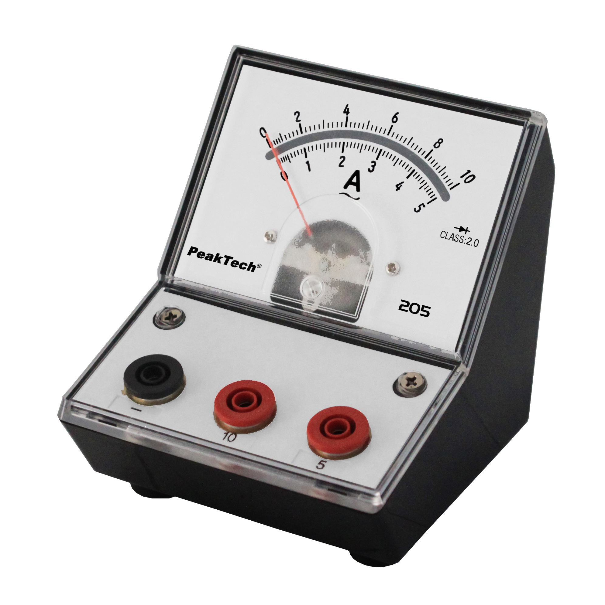 «PeakTech® P 205-10» Analog amperemeter - 0 ... 5A/10A AC