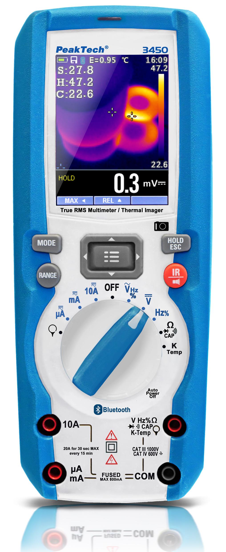 «PeakTech® P 3450» TrueRMS multimeter & thermal imaging camera