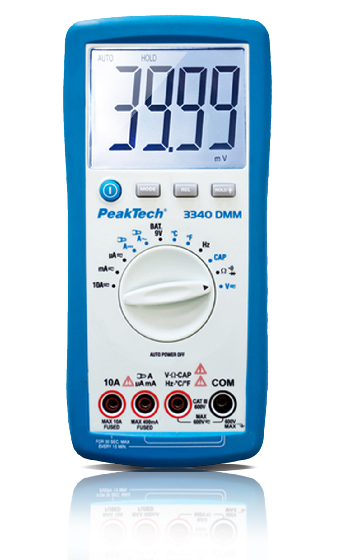 «PeakTech® P 3340» Digital multimeter, 4,000 counts, 600V AC / DC