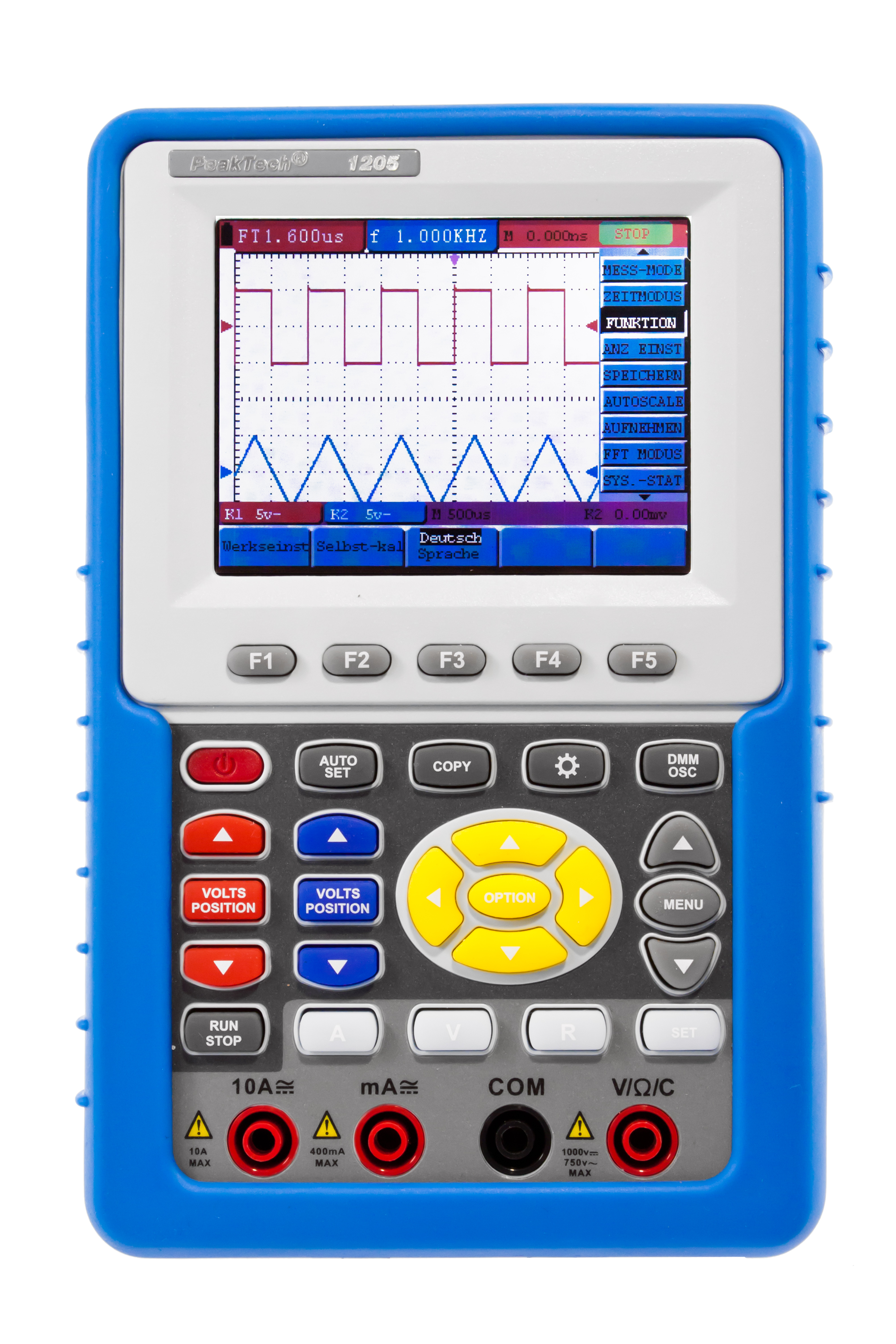 «PeakTech® P 1205» 20 MHz / 2 CH, 100 MS / s handheld oscilloscope