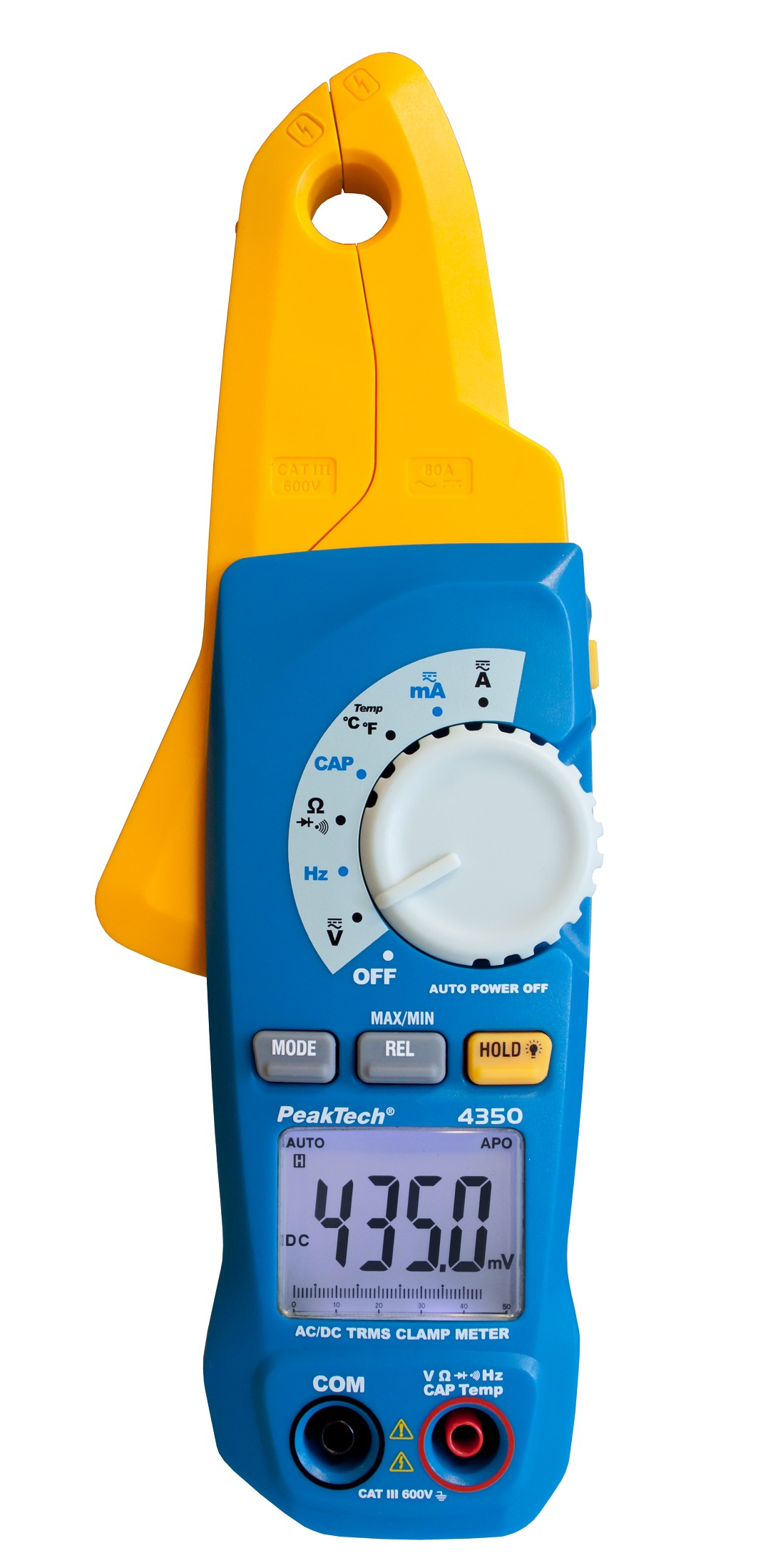 «PeakTech® P 4350» TRMS Current Clamp Meter, 4.000 Counts, 80 A AC/DC