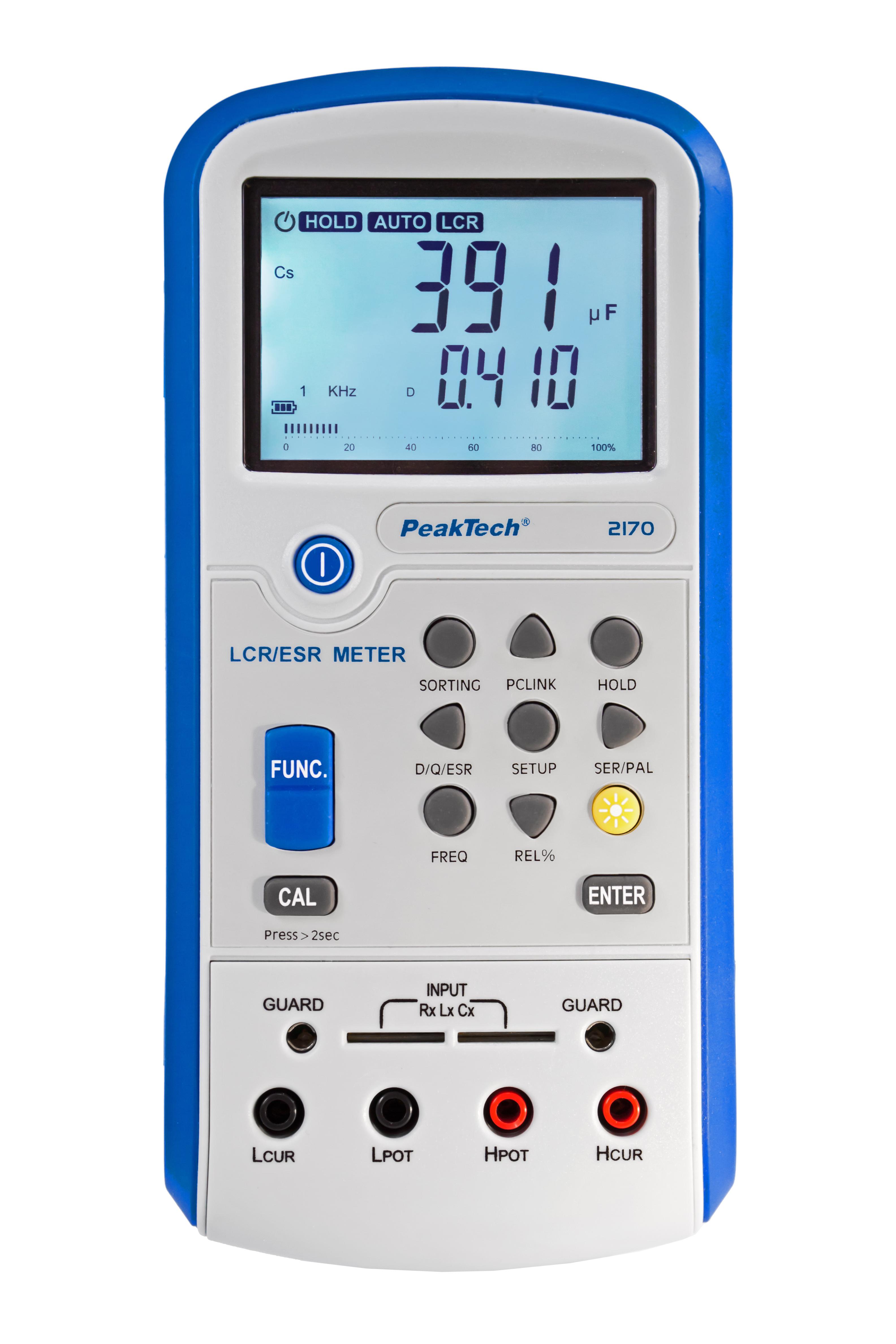 «PeakTech® P 2170» LCR-/ESR-Meter, 100 Hz - 100 kHz, with USB