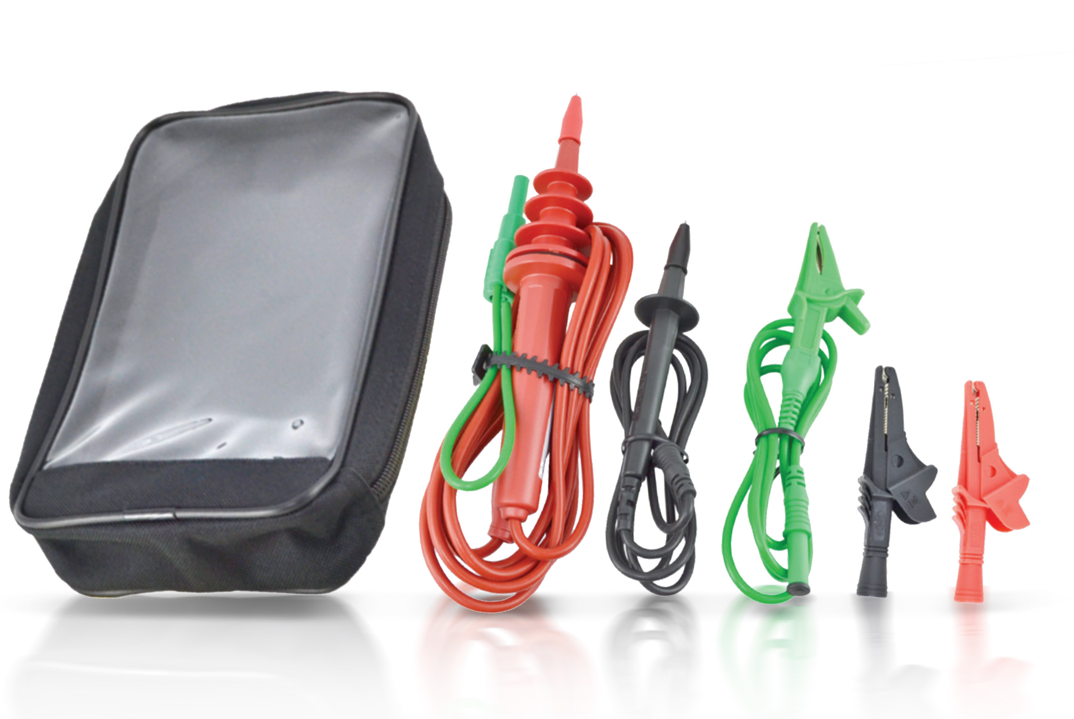 «PeakTech® P 2680/85 KS» Test lead set with HV probe and two leads (black / green) for P 2680/2685