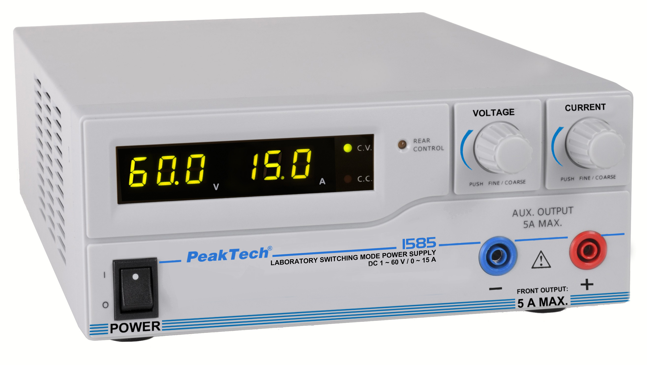 «PeakTech® P 1585» Laboratory power supply DC 1 - 60V / 0 - 15A & USB