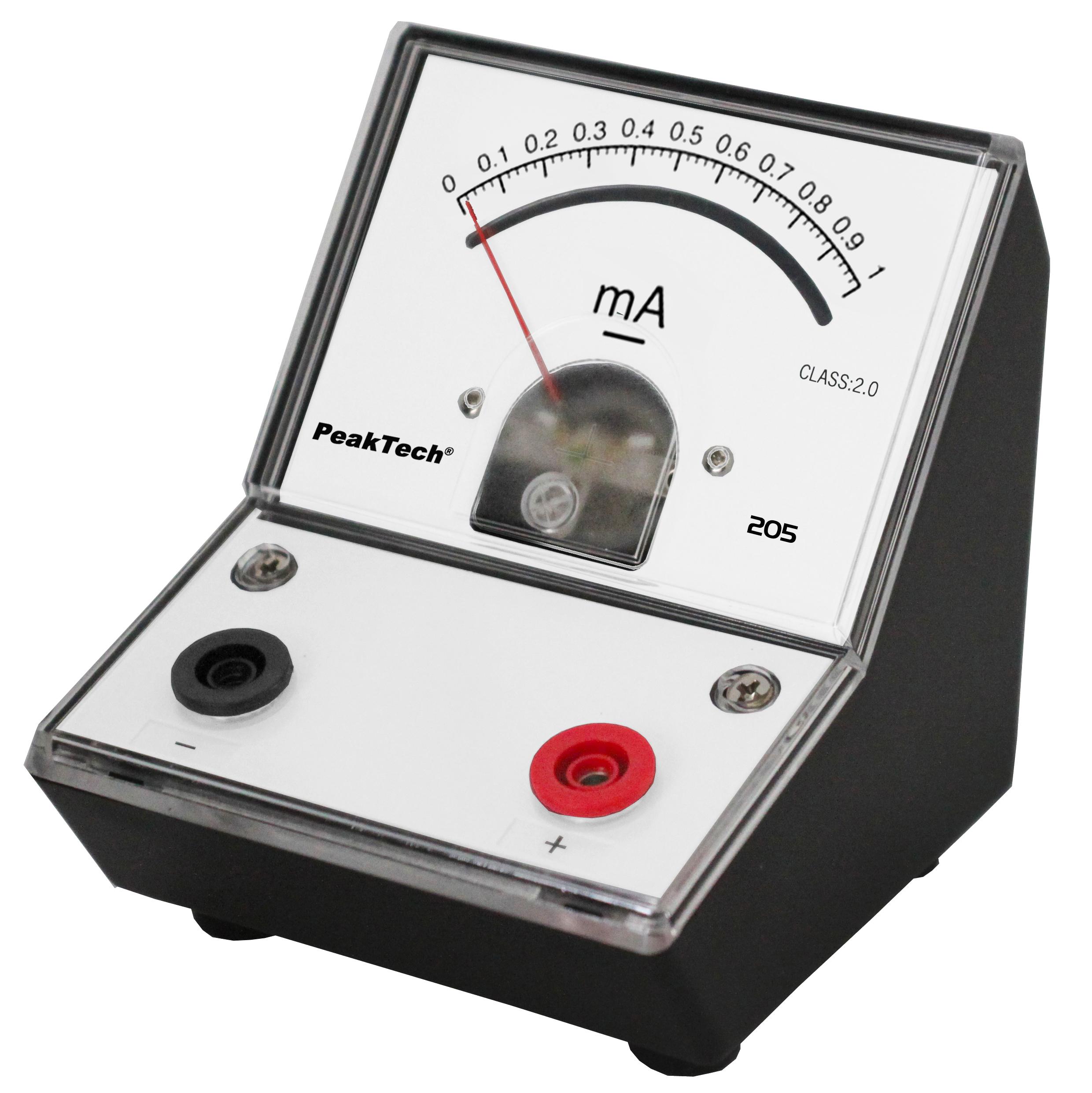«PeakTech® P 205-03» Analog amperemeter - 0 ... 1mA DC