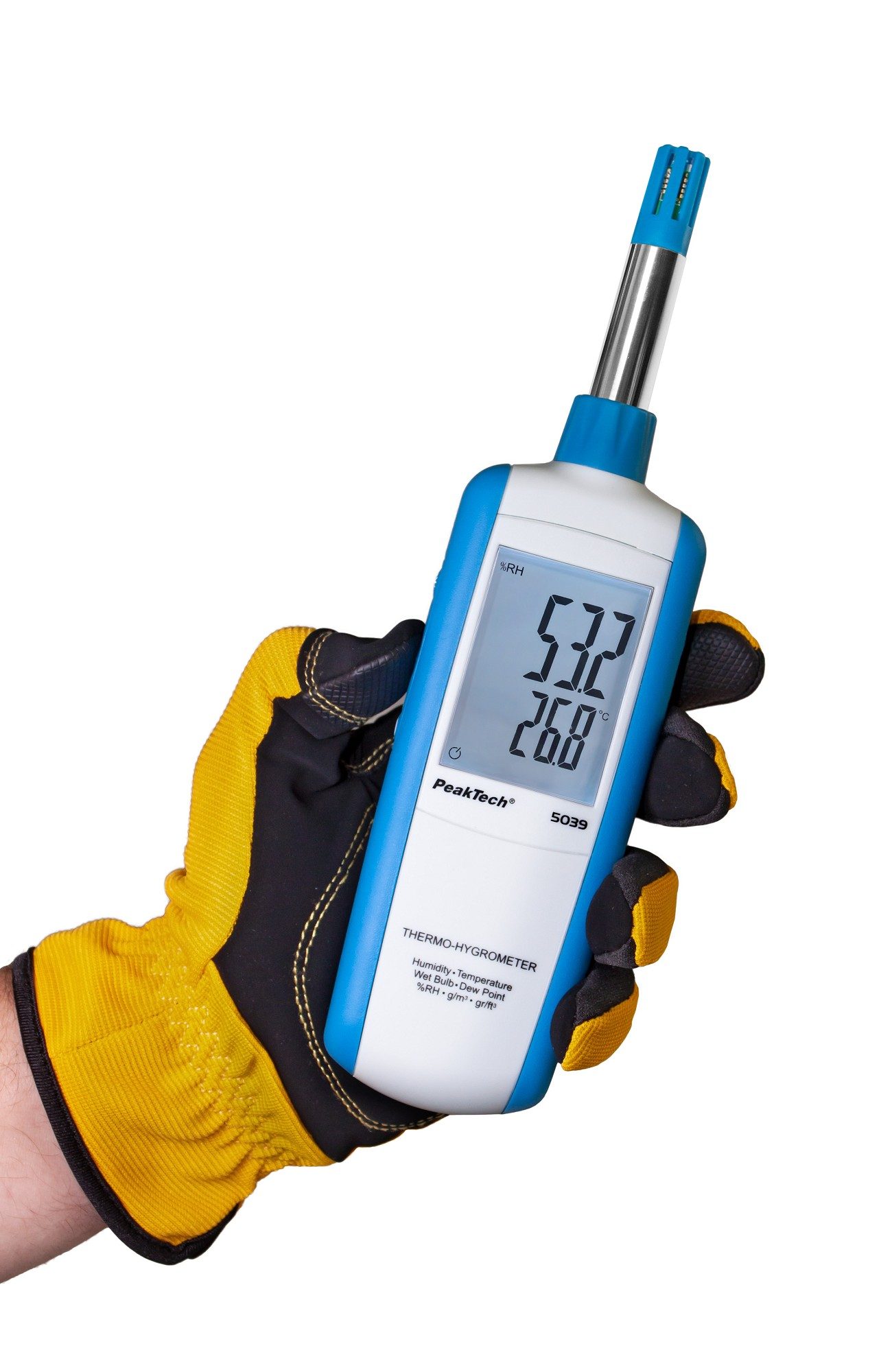 «PeakTech® P 5039» Thermo-hygrometer with dew point and wet bulb