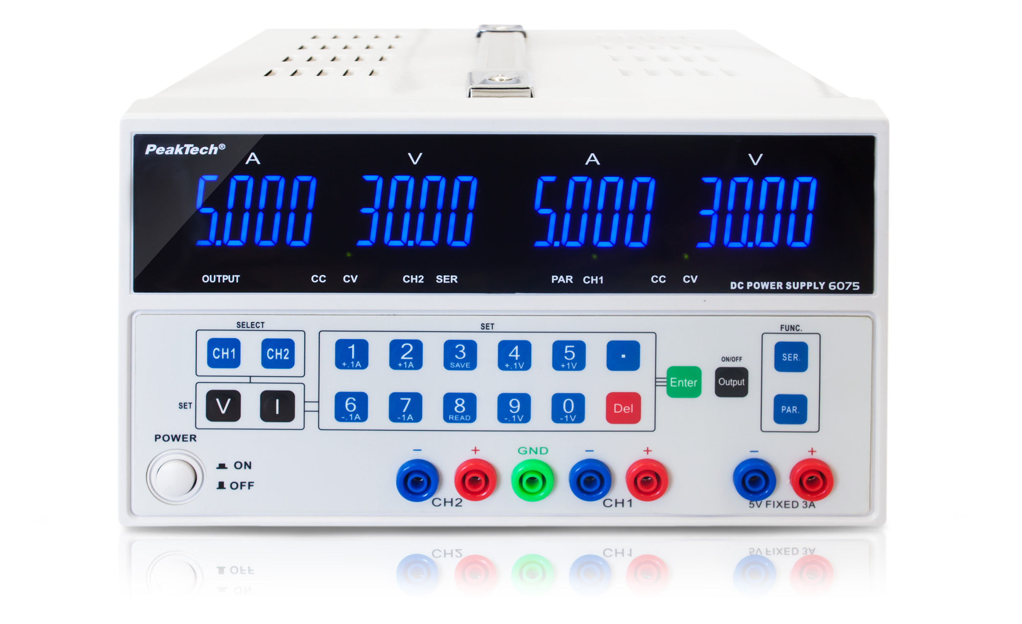«PeakTech® P 6075» Digital Laboratory Power Supply with USB