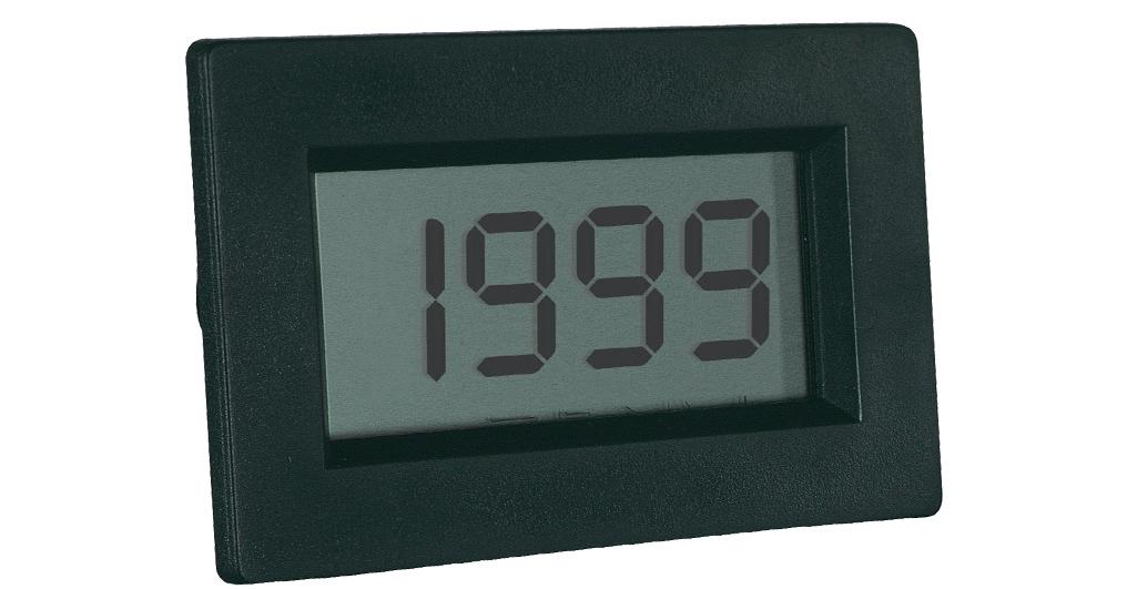 «PeakTech® LDP-135» Volt & ammeter, LCD display 13mm hight of digits