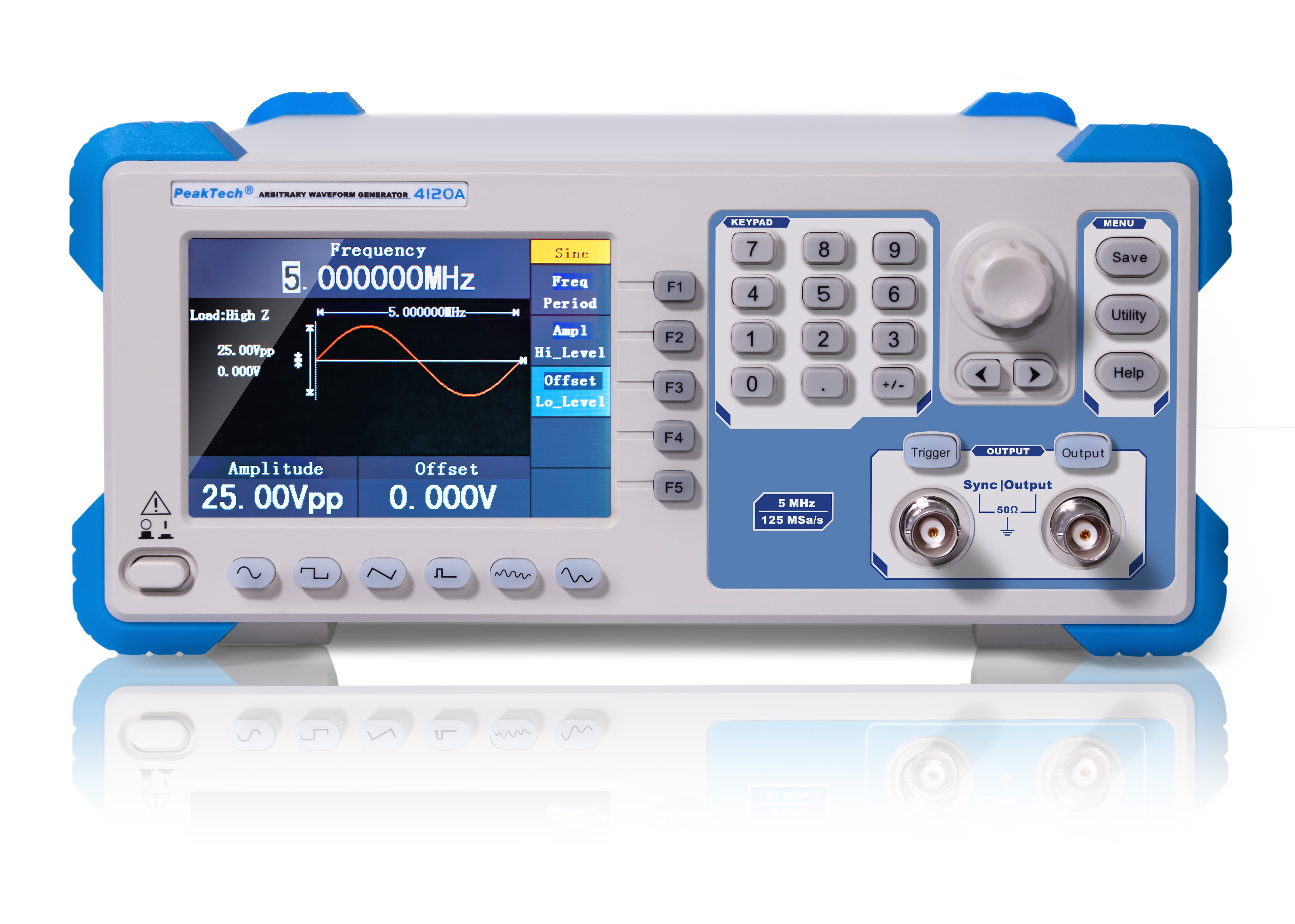 «PeakTech® P 4120 A» 1CH arbitrary function generator, 1 µHz - 5 MHz, 10W amplifier
