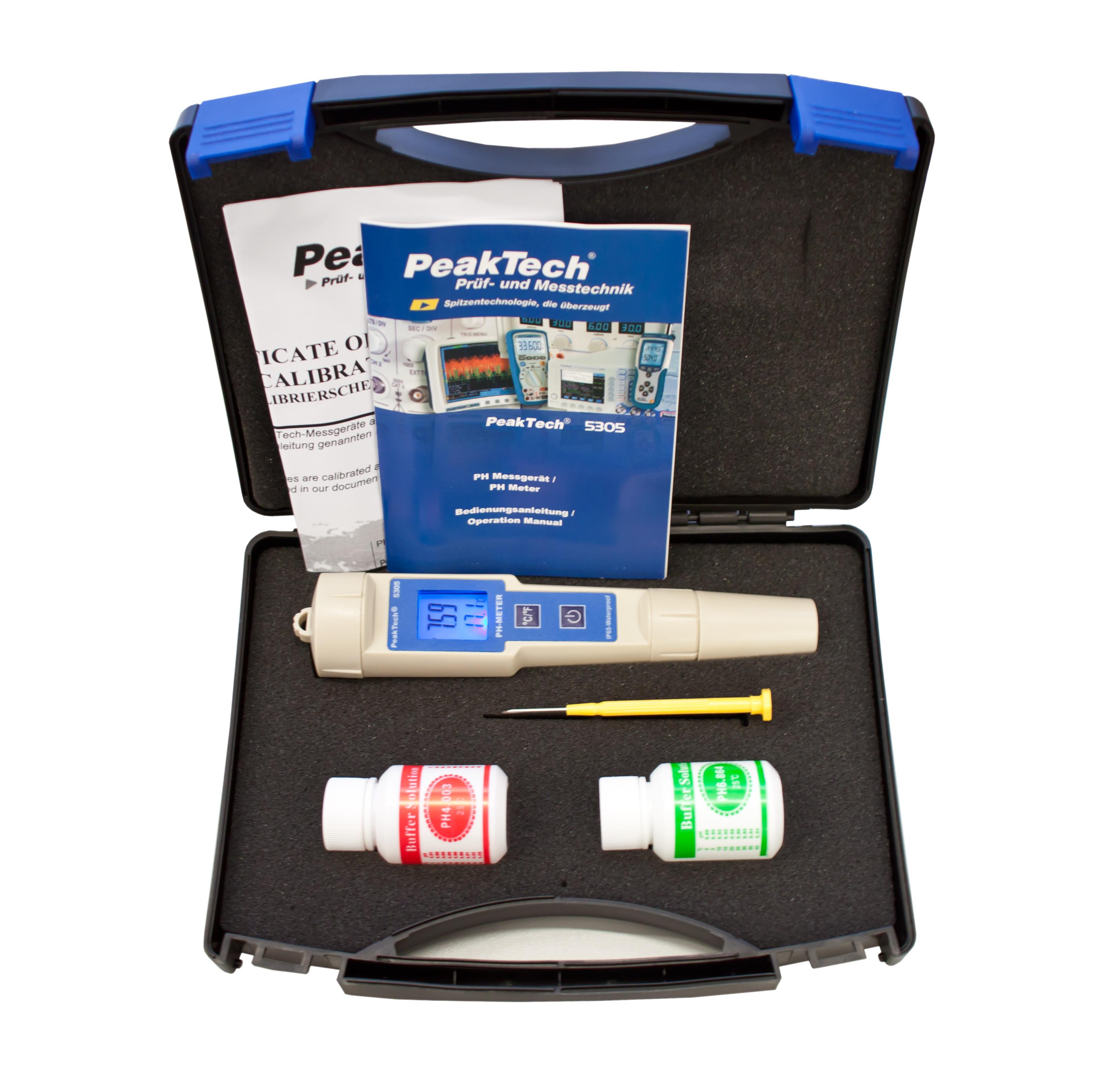 «PeakTech® P 5305» 2 in 1 PH-Meter